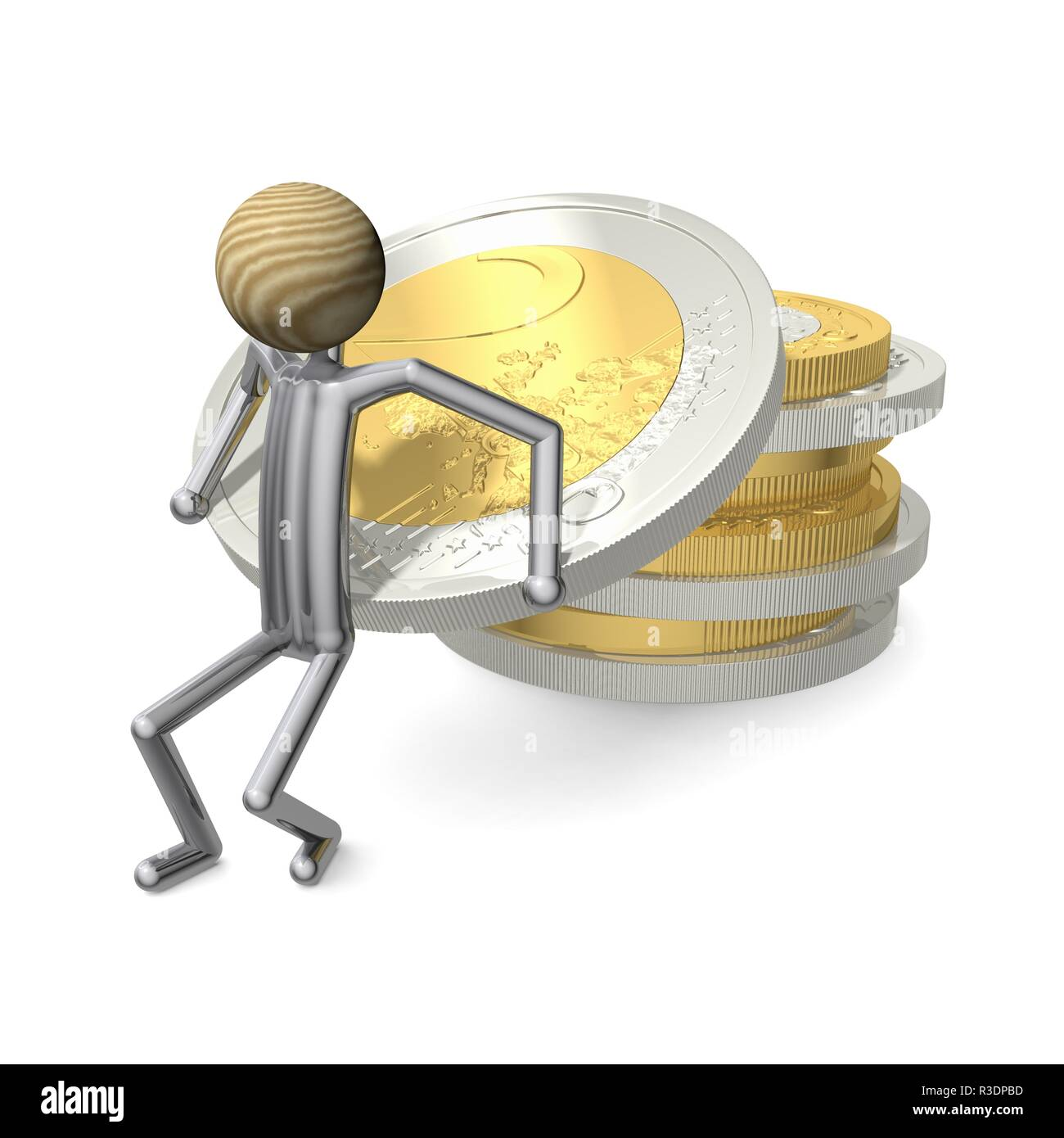 stacks of coins - Stock Image