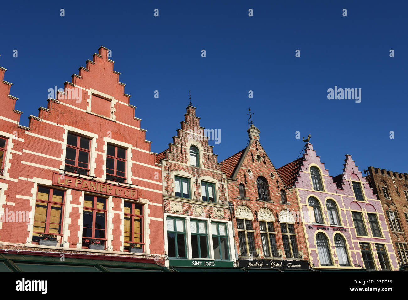 Markt or Main Square Bruges (Brugge), Belgium - Stock Image