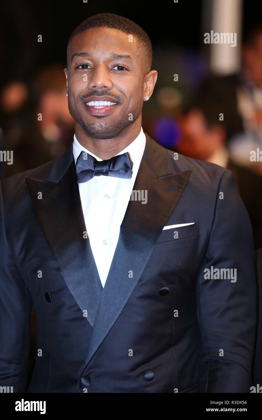CANNES, FRANCE – MAY 12, 2018: Michael B. Jordan walks the red carpet for the 'Fahrenheit 451' screening at the Festival de Cannes (Ph: Mickael Chavet - Stock Image