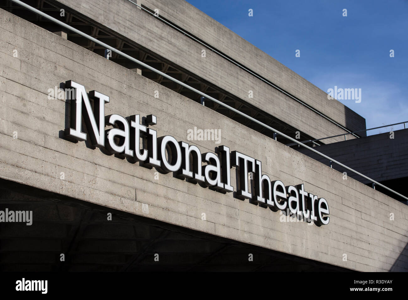 The Royal National Theatre in London, commonly known as the National Theatre, one of the UK's most prominent publicly funded performing art venues, UK - Stock Image