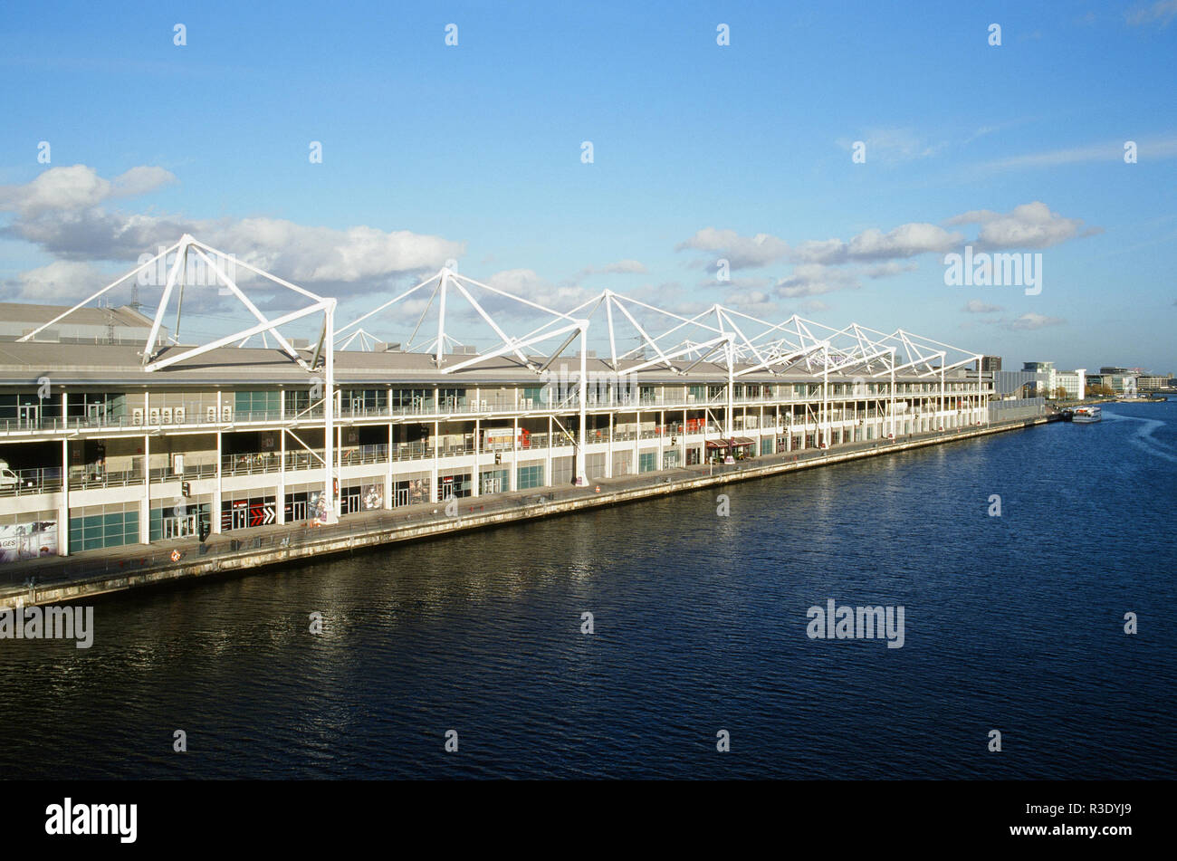 Exterior of the Excel Arena, Royal Victoria Dock, East London UK - Stock Image