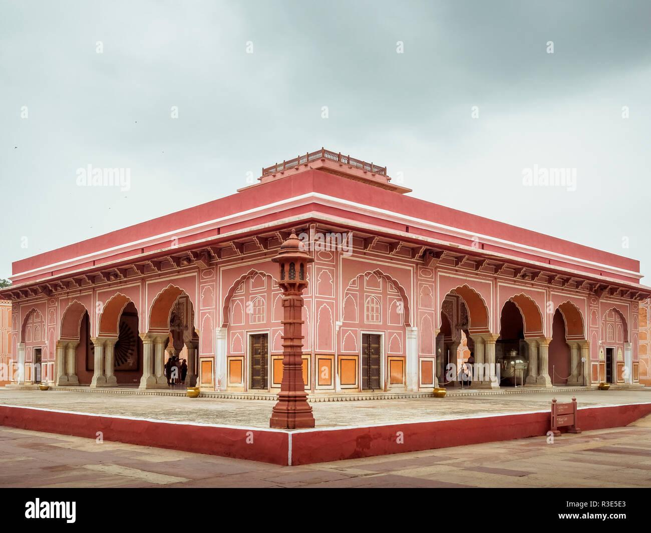 City Palace in Pink City Jaipur, Rajasthan, India - Stock Image