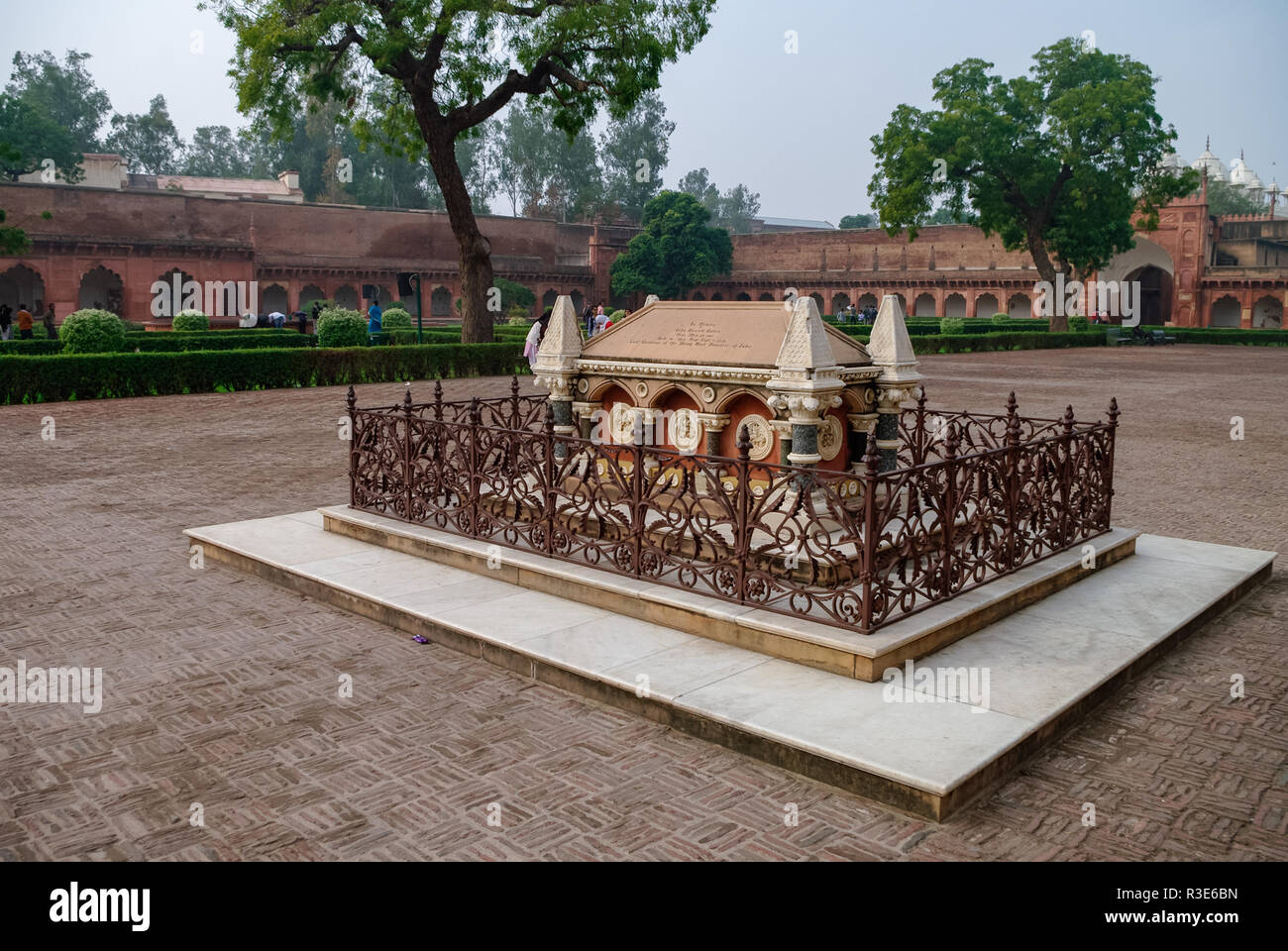 Tomb of John Russell Colvin inside Red Agra Fort. Agra, Uttar Pradesh, India - Stock Image