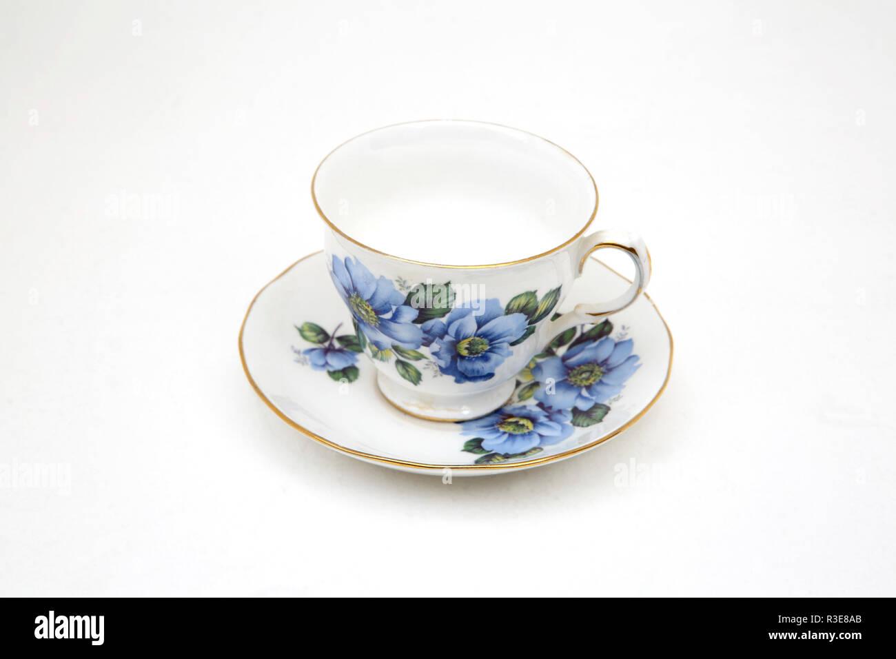 Gainsborough Bone China Tea Cup and Saucer - Stock Image