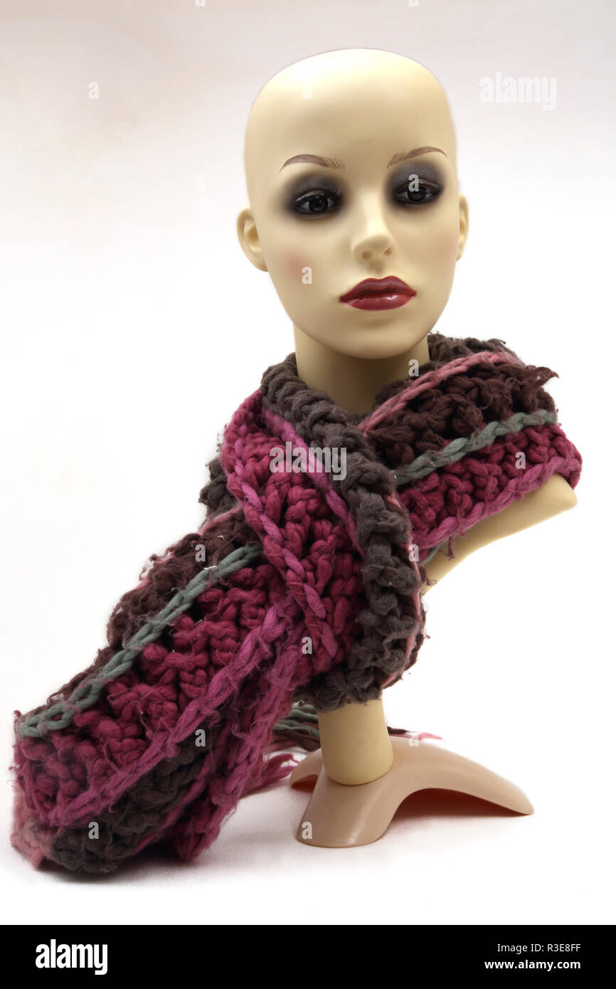 Knitted Wool Scarf - Stock Image