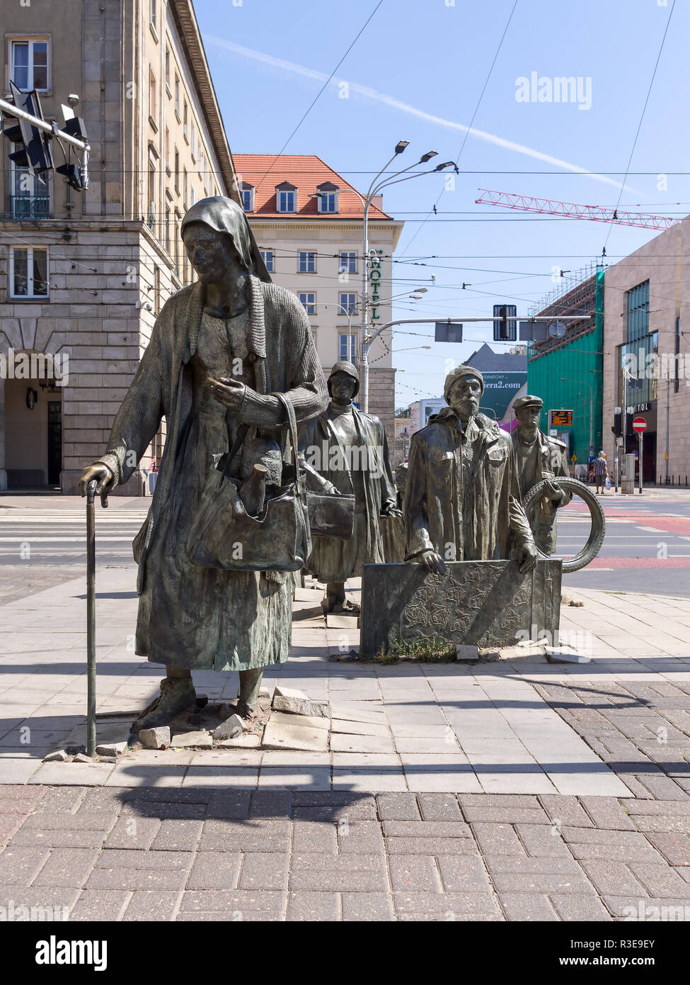 WROCLAW, POLAND - AUGUST 15, 2017: The Monument of An Anonymous Passerby - Stock Image