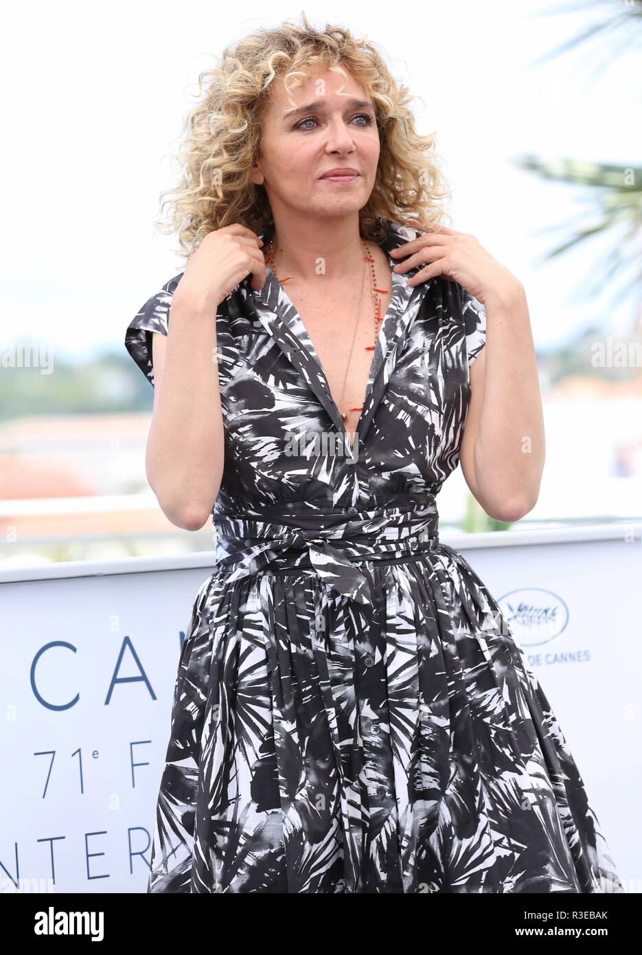 CANNES, FRANCE – MAY 15, 2018: Valeria Golino at the 'Euforia' photocall during the 71st Cannes Film Festival (photo by Mickael Chavet) - Stock Image