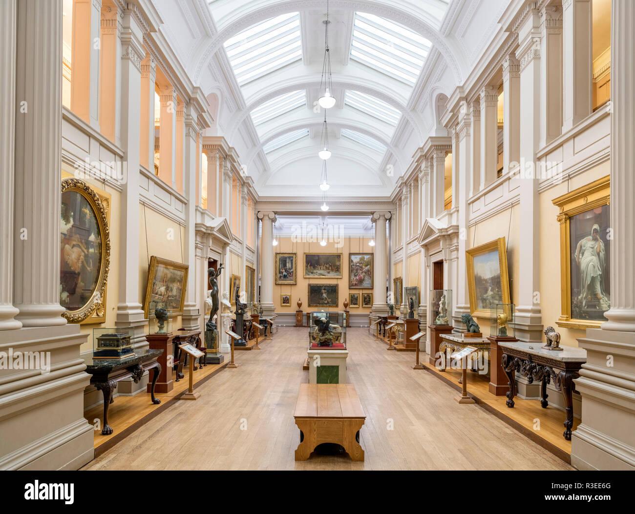 Interior of the Lady Lever Art Gallery, Port Sunlight, Liverpool, Merseyside, England, UK - Stock Image