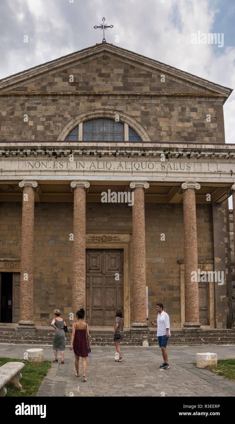 Concattedrale di San Salvatore, Montalcino, Tuscany, Italy - Stock Image