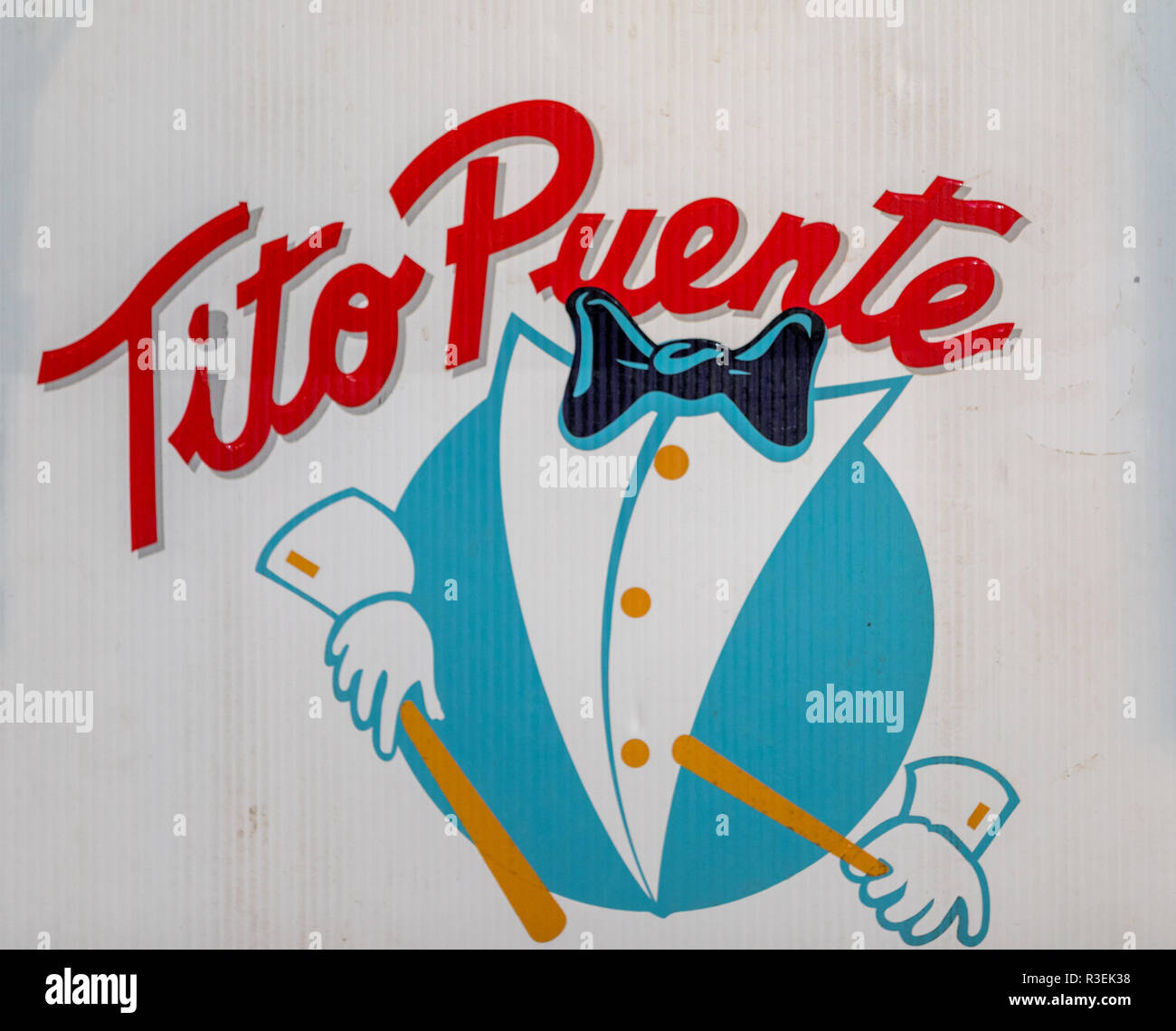 Tito Puente Jr band's sign - Stock Image