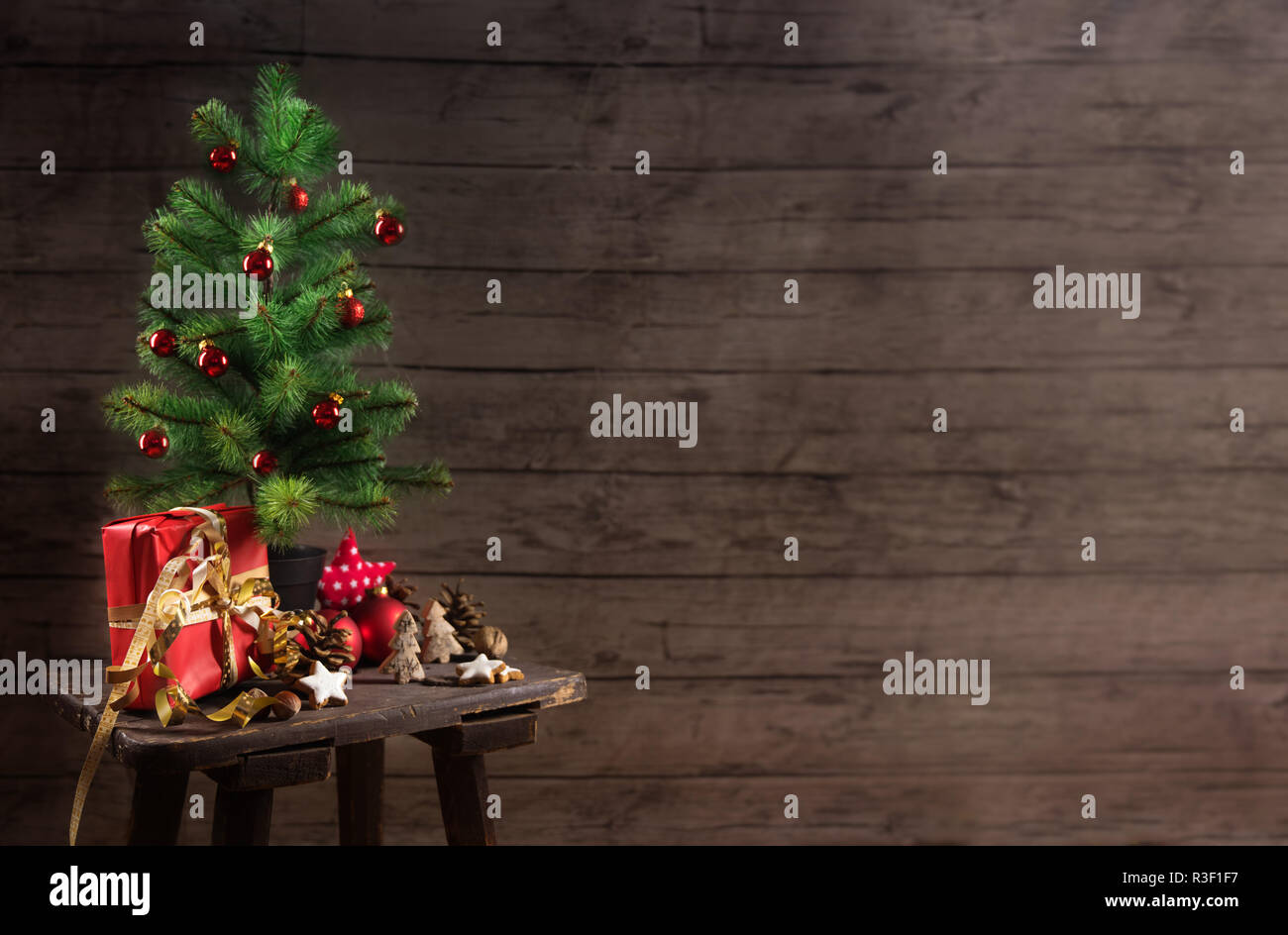 Miraculous Artificial Christmas Tree With Red Baubles T Box And Home Interior And Landscaping Ologienasavecom