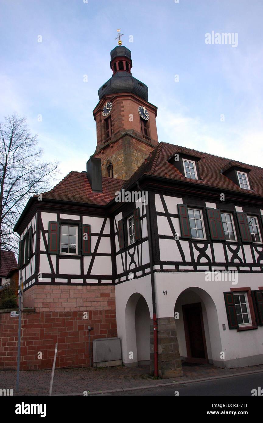 restored half-timbered house in rheinzabern / pfalz Stock Photo