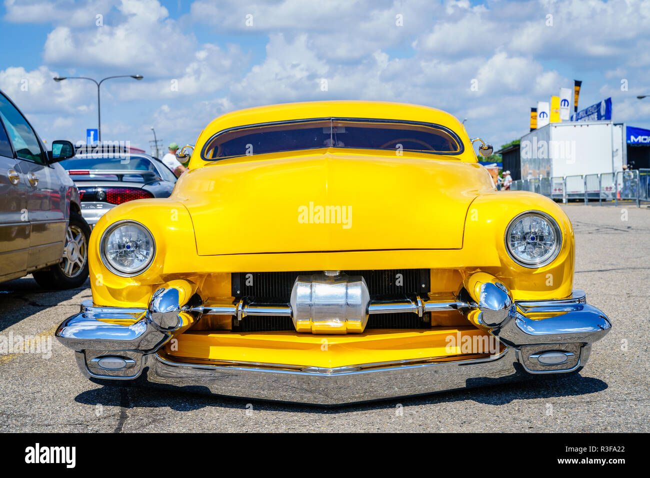 Detroit, Michigan, August 19, 2016: custom built car at Woodward Dream Cruise - largest one-day automotive event in USA - Stock Image