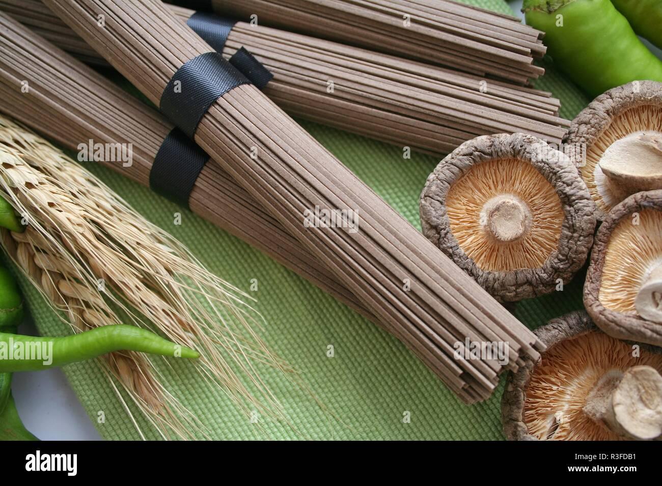 noodles soba - Stock Image