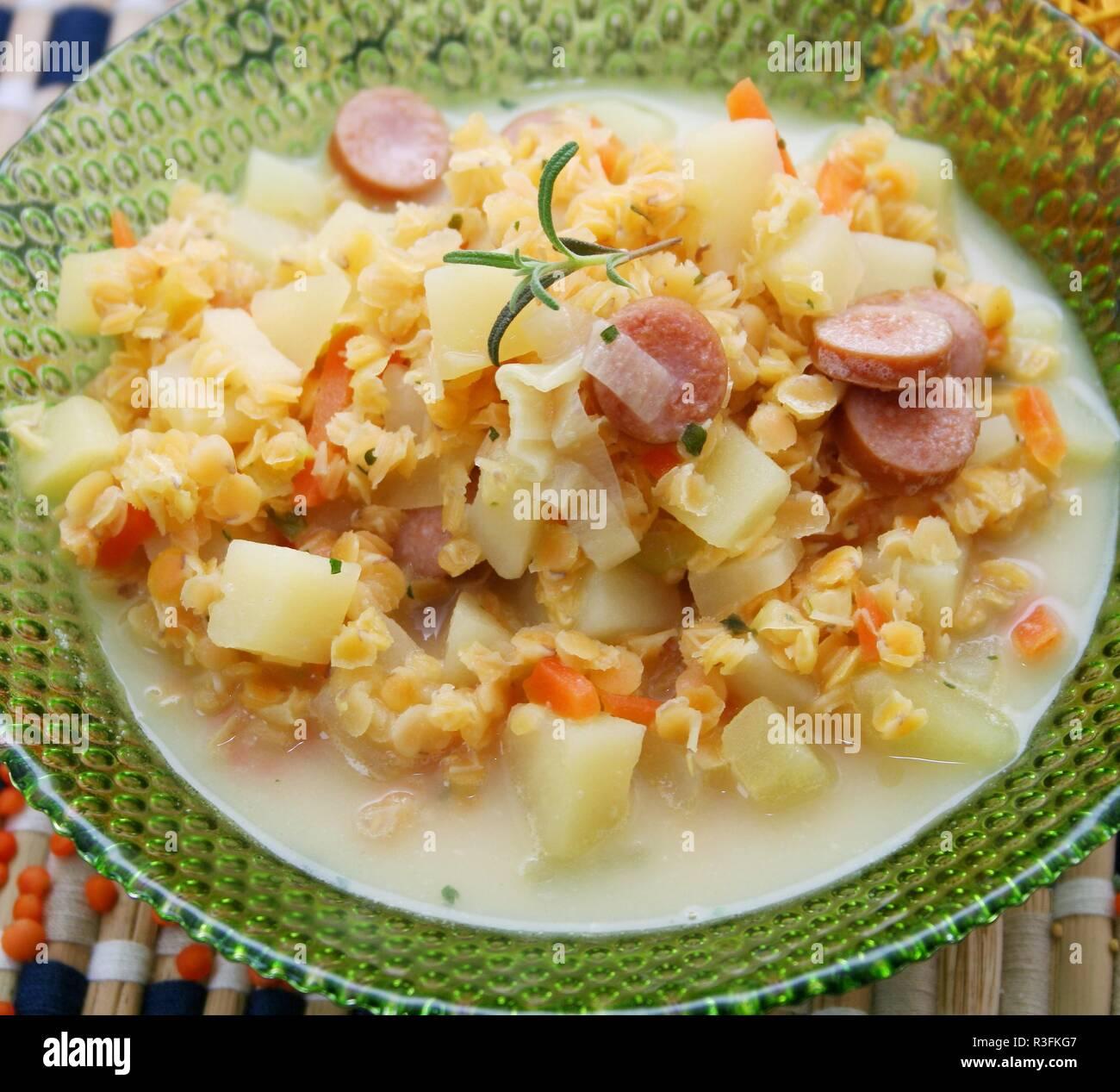 lentil stew Stock Photo