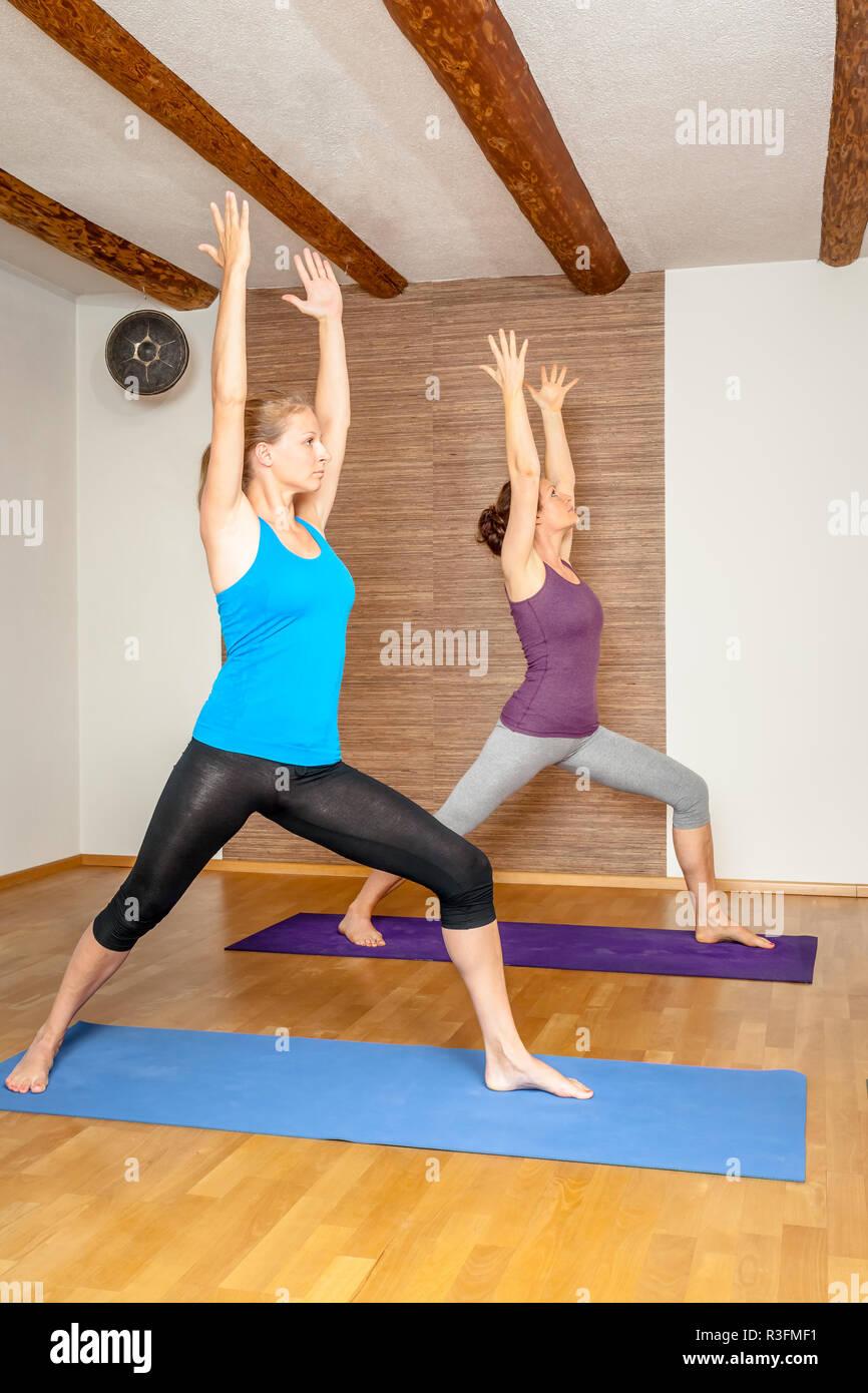 yoga exercises - Stock Image