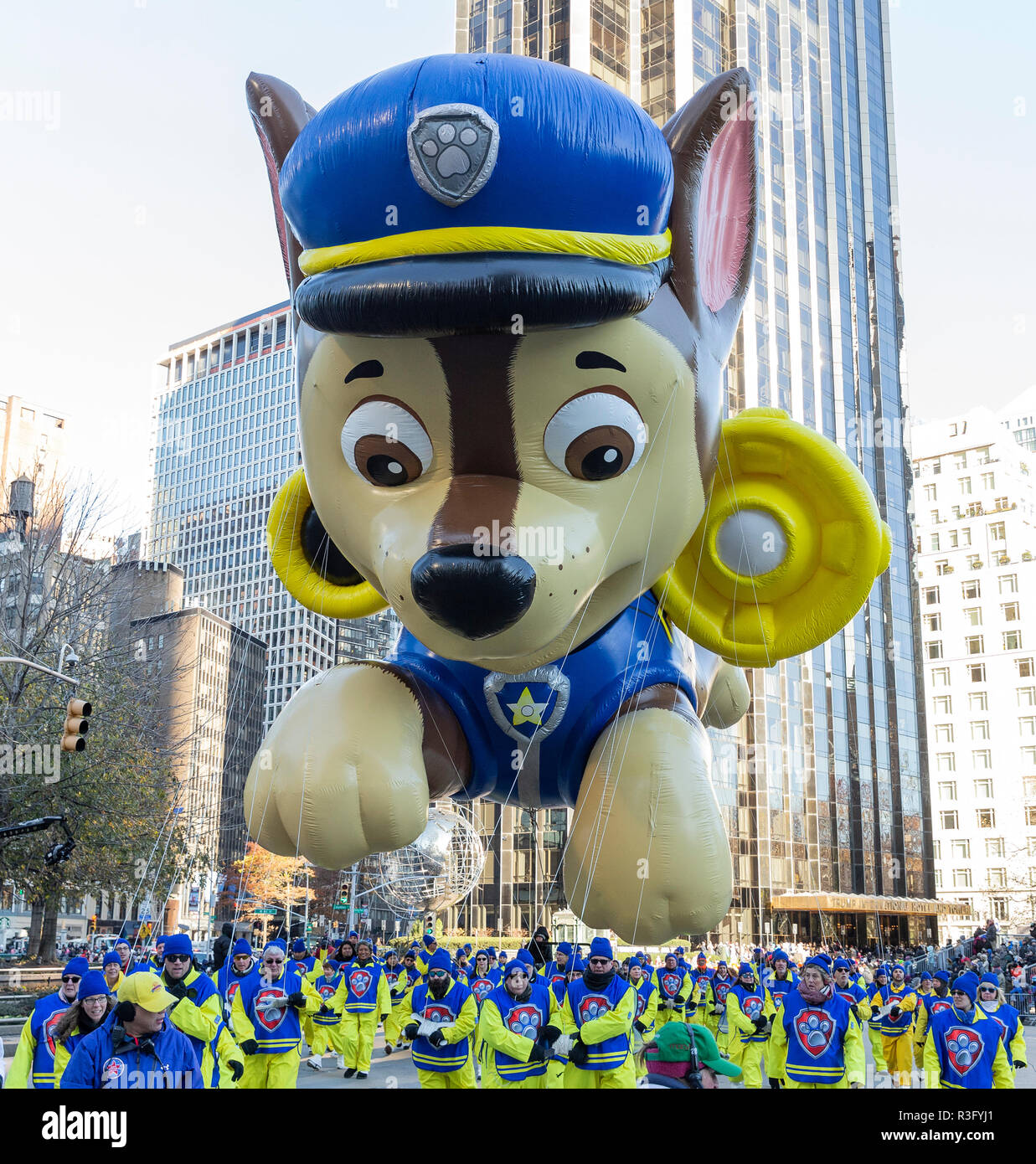 New York, Chase by Paw Patrol giant balloon floats at 92nd