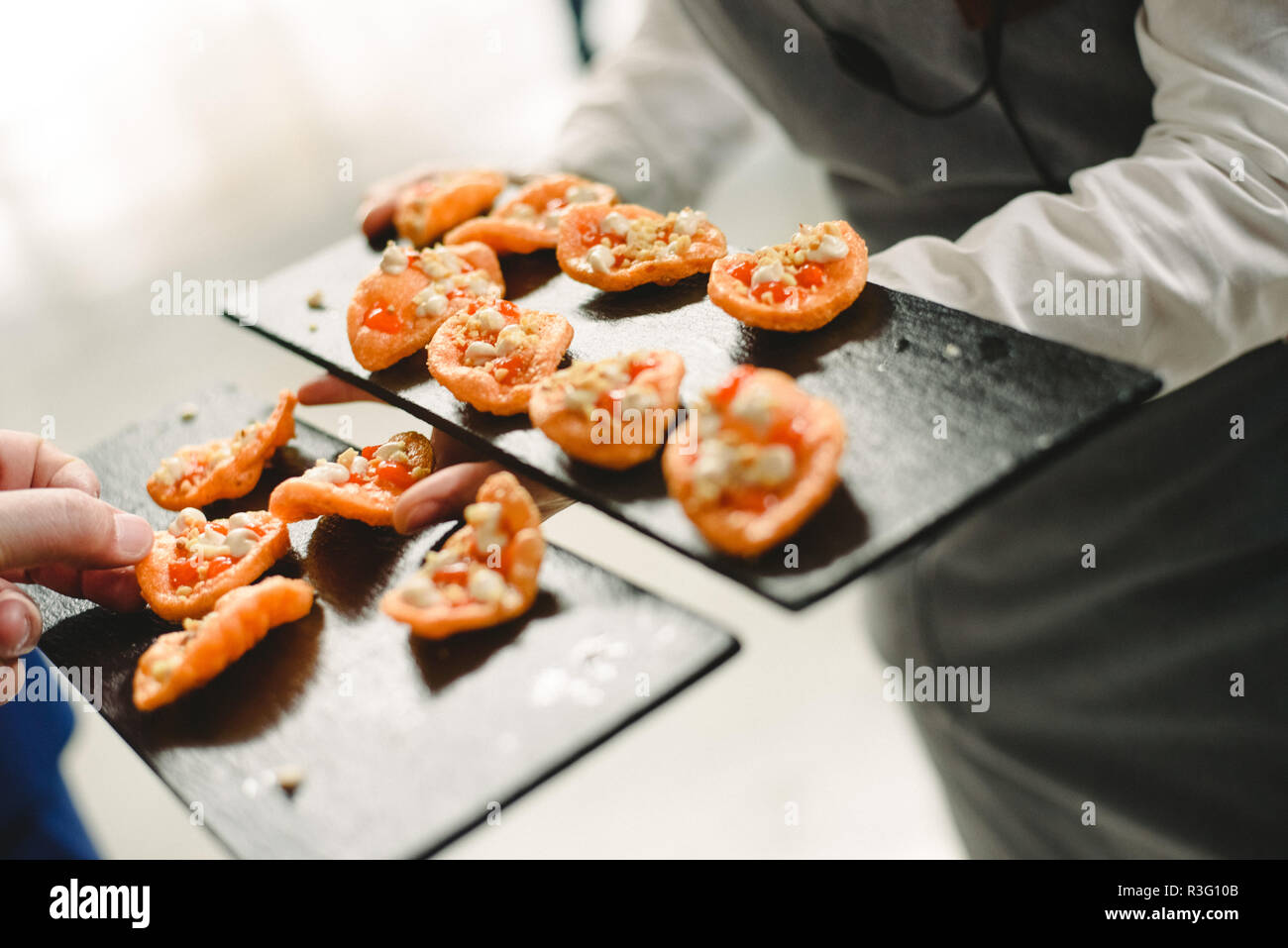 wedding food ideas appetizers Stock Photo