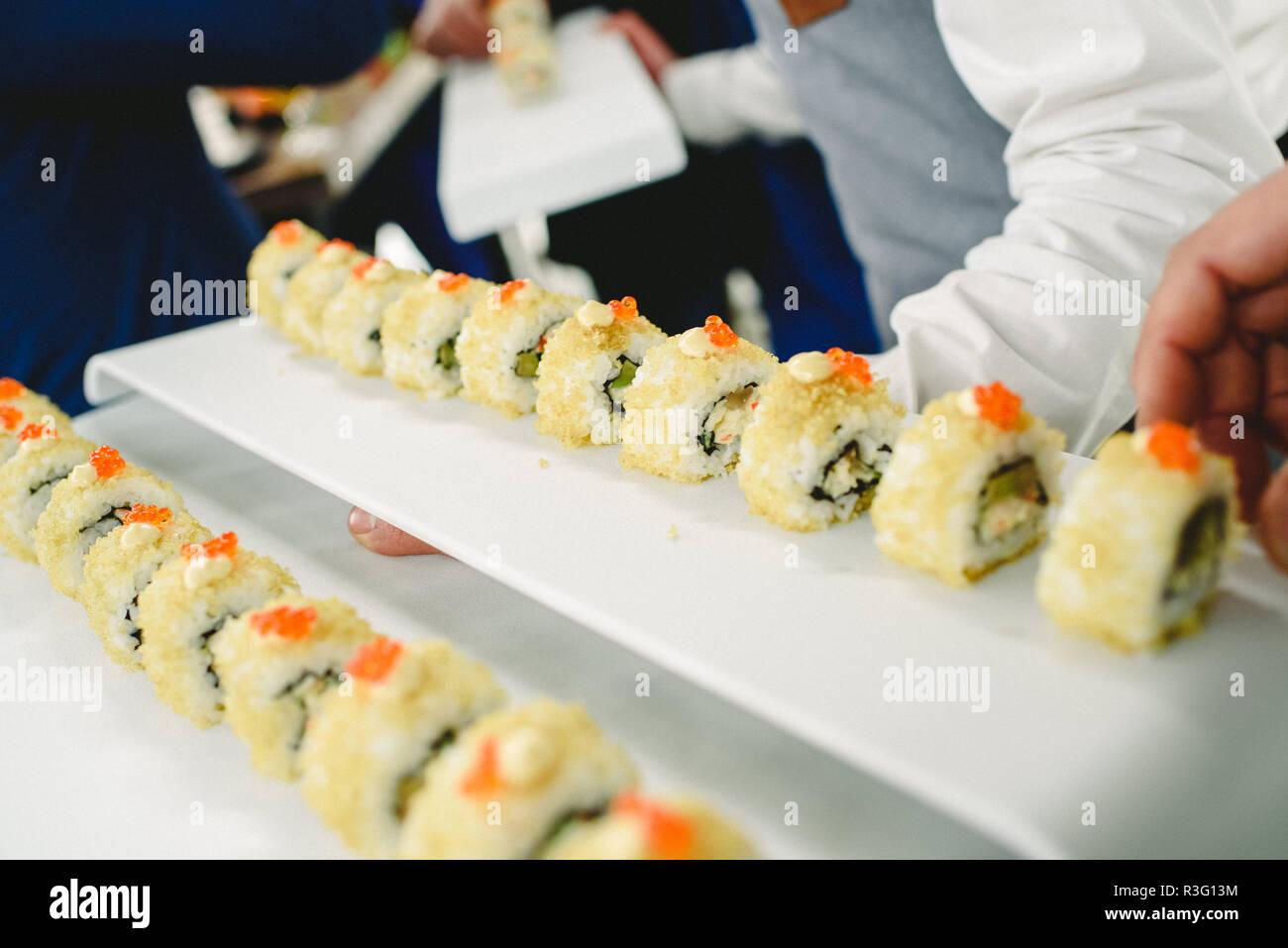 wedding food ideas appetizers Stock Photo