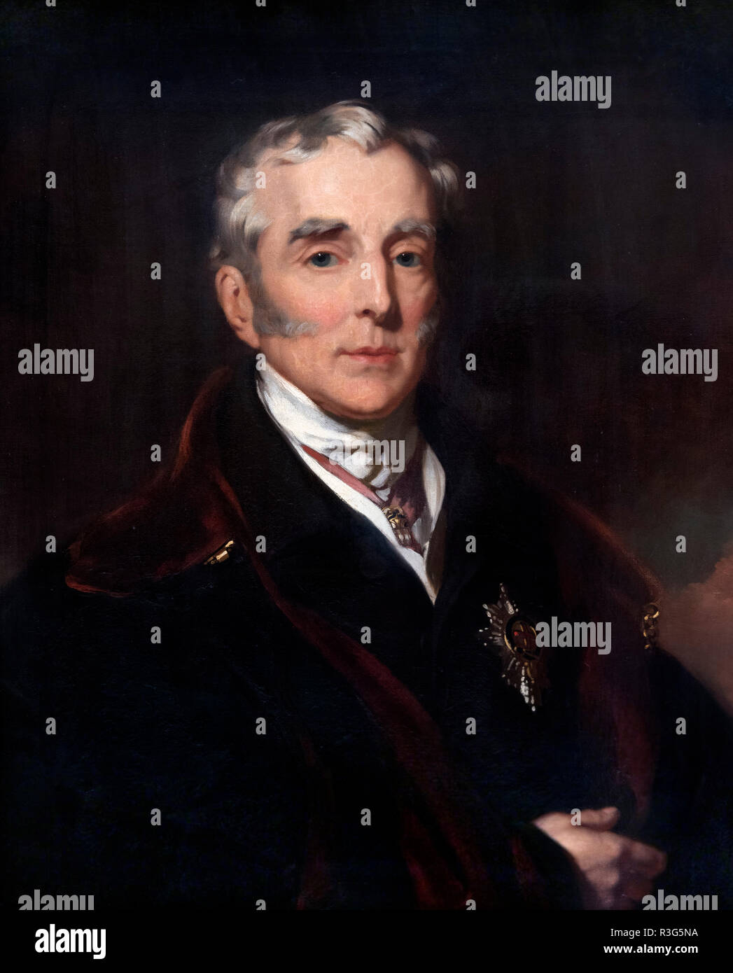 Duke of Wellington, portrait by John Lucas, oil on canvas, 1839. - Stock Image
