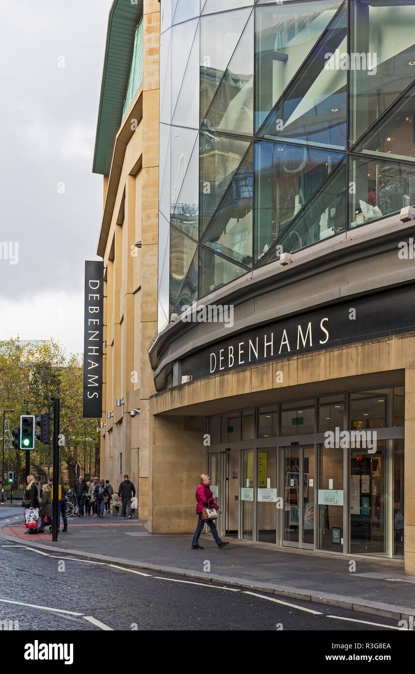 6527fe11c52f7 Exterior of Debenhams department store in Newcastle upon Tyne, UK ...