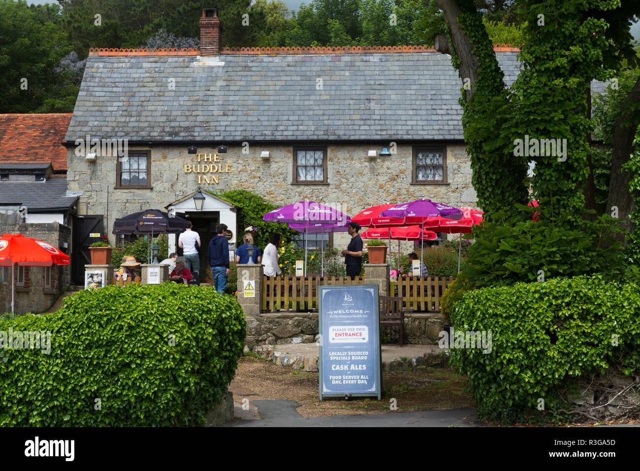 The Buddle Smuggler's Inn. St Catherine's Rd, Niton, Ventnor PO38 2NE. Isle of Wight. UK. (98) - Stock Image