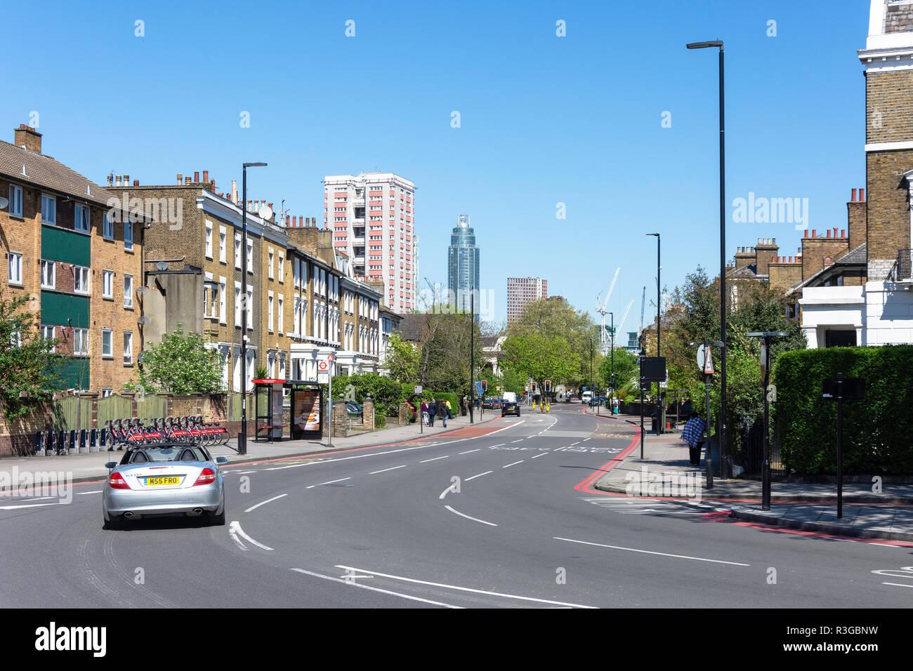 South Lambeth Road, Stockwell, London Borough of Lambeth, Greater London, England, United Kingdom - Stock Image