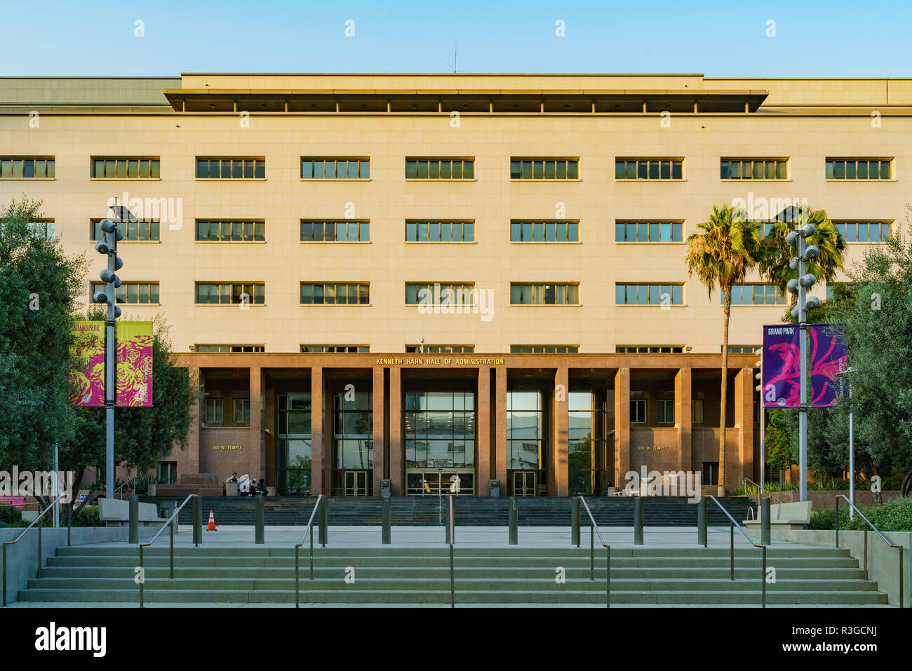 Los Angeles, AUG 2: Exterior view of the L A County Auditor Controller on AUG 2, 2018 at Los Angeles - Stock Image