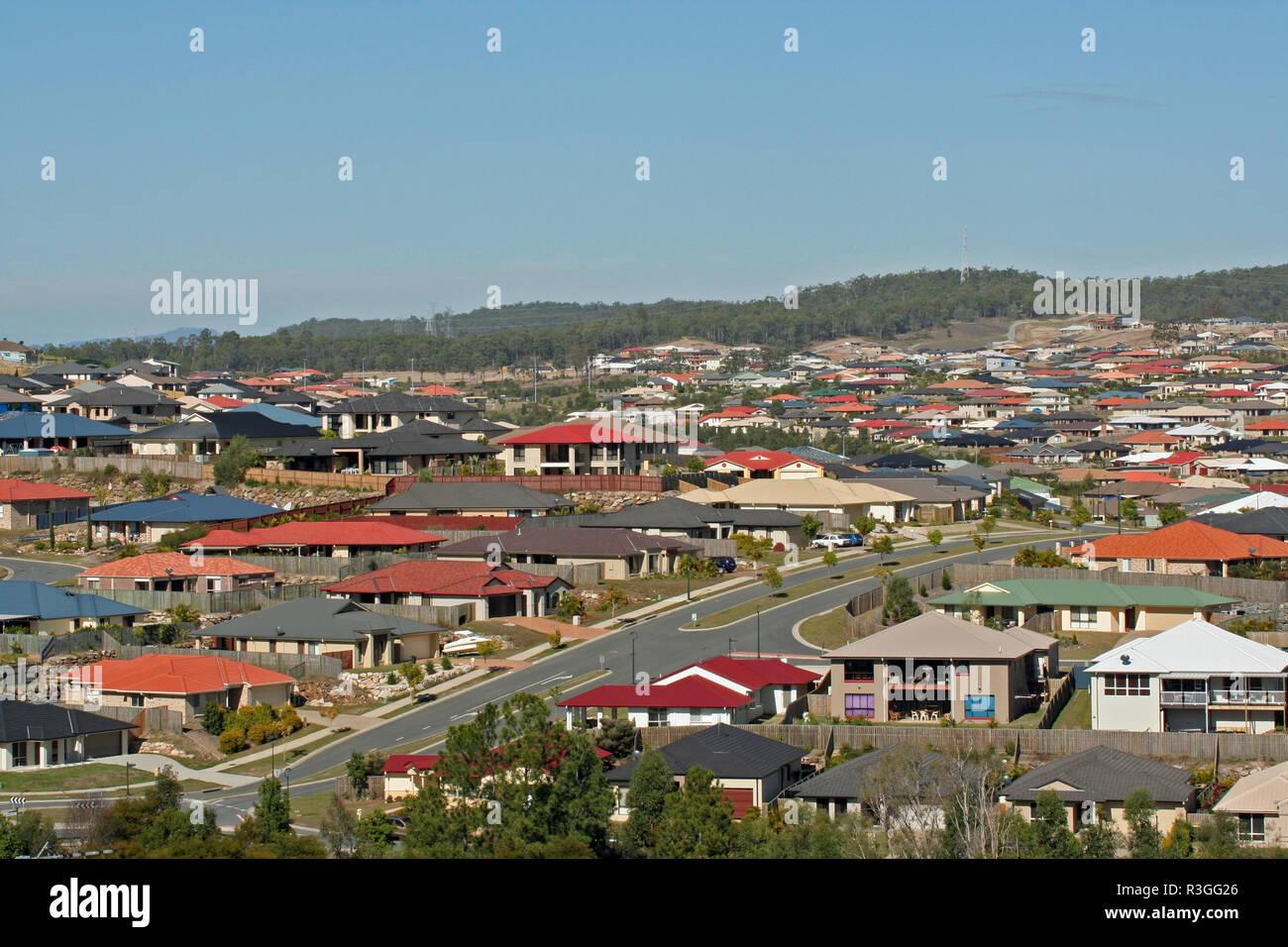 RESIDENTIAL HOUSING ESTATE, QUEENSLAND, AUSTRALIA - Stock Image