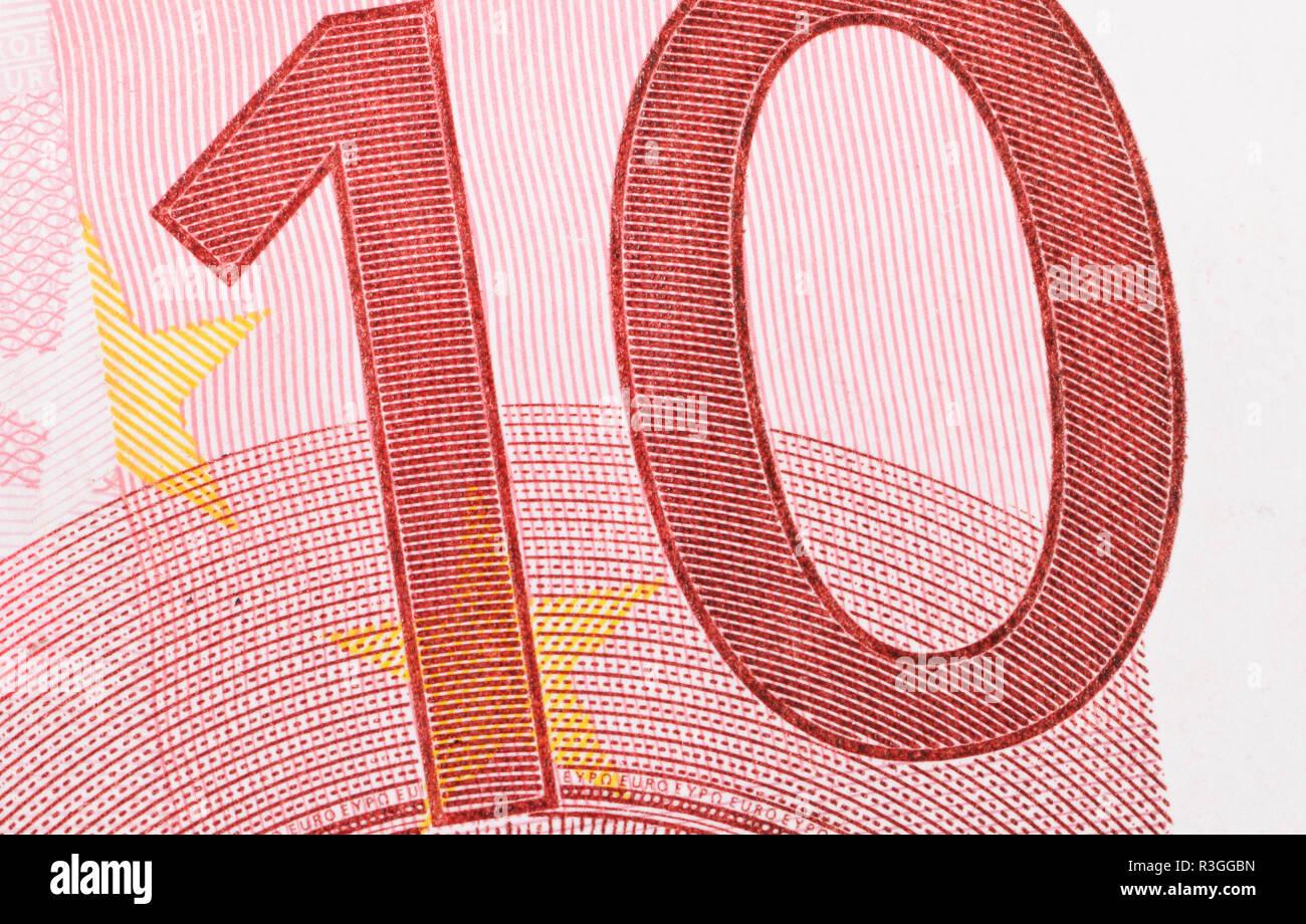 ten euro / ten euro - Stock Image