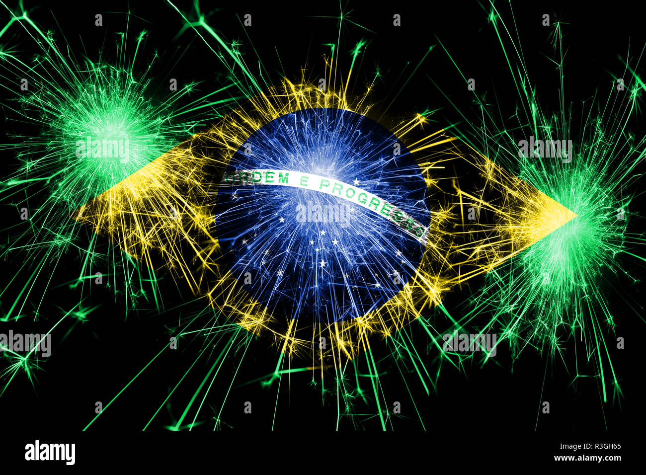 Обои flag, fireworks, football, Brasil. Спорт foto 15