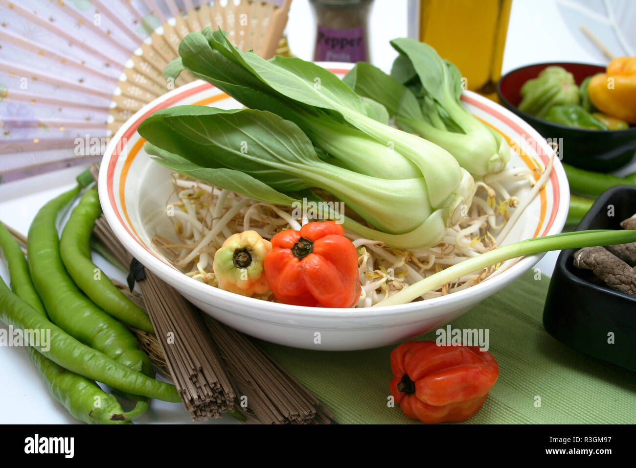 chinese vegetables - Stock Image