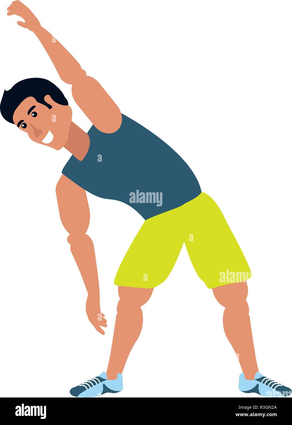 Man Cartoon Stretching Design High Resolution Stock Photography And Images Alamy