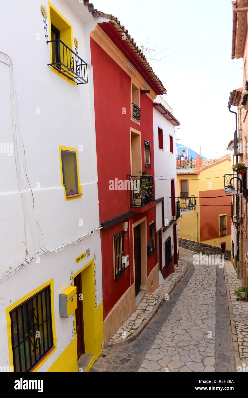 projects - benidorm - finestrat - costa blanca - spain - Stock Image