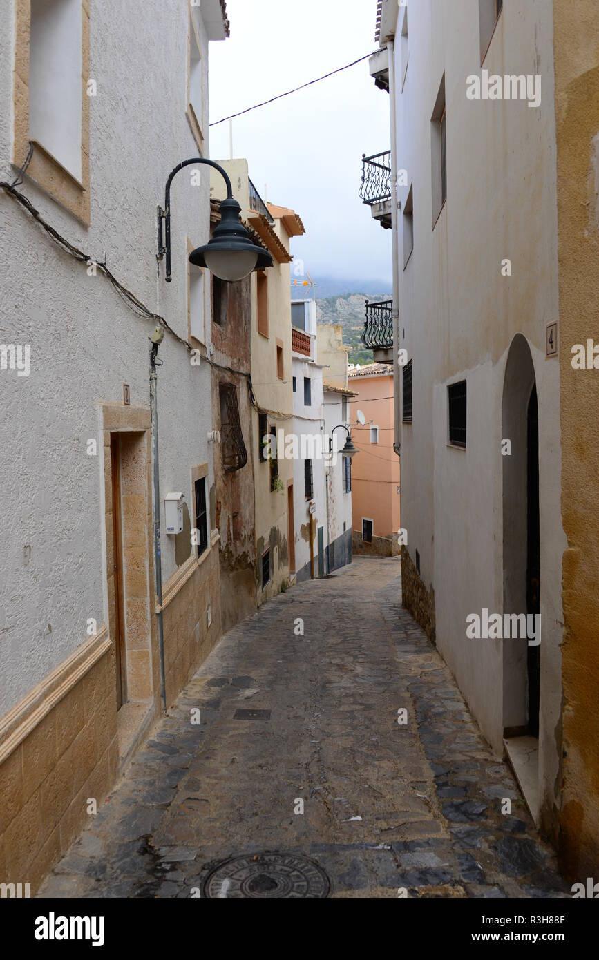 housefacades - benidorm - finestrat - costa blanca - spain - Stock Image