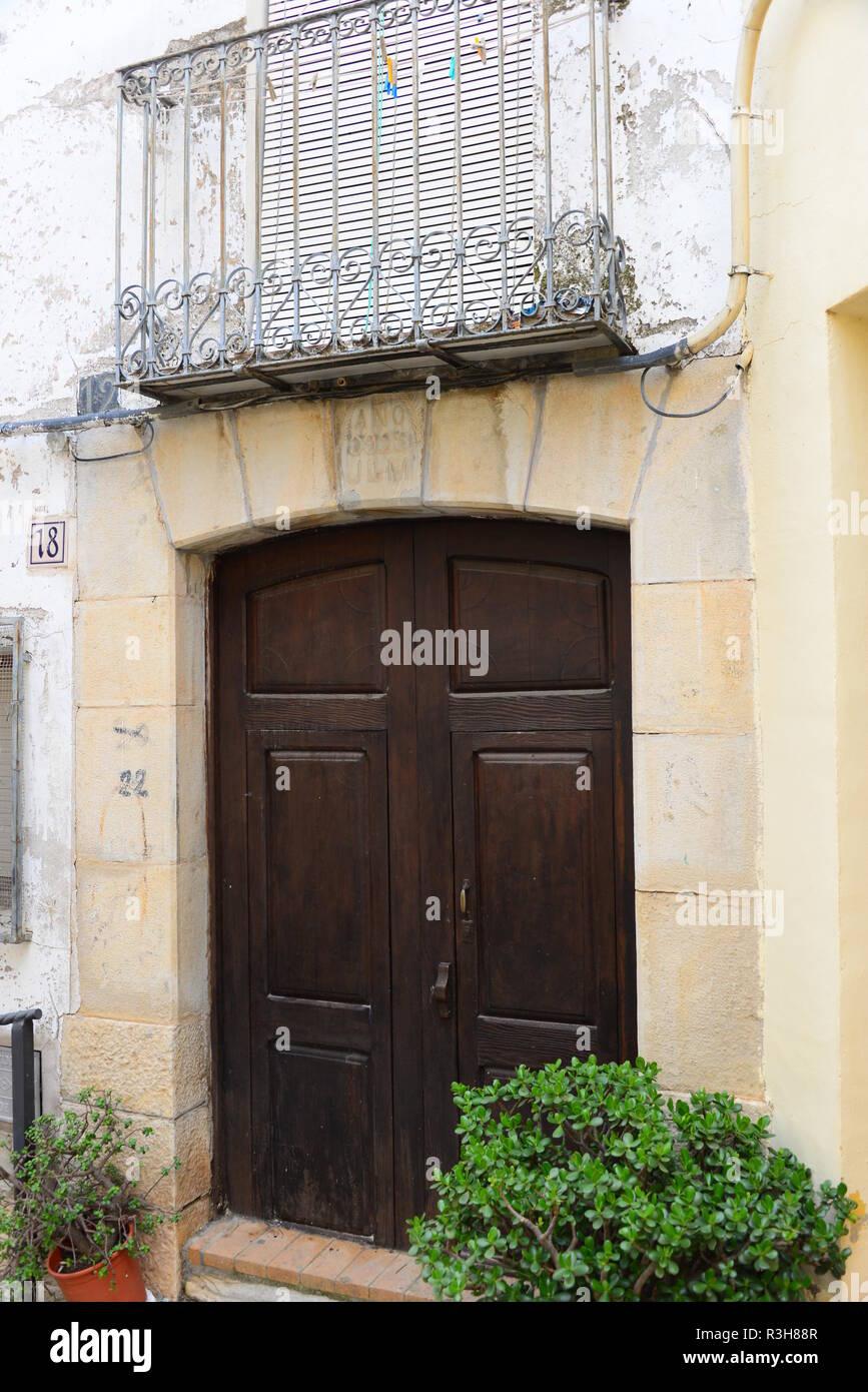 house facades - benidorm - finestrat - costa blanca - spain - Stock Image