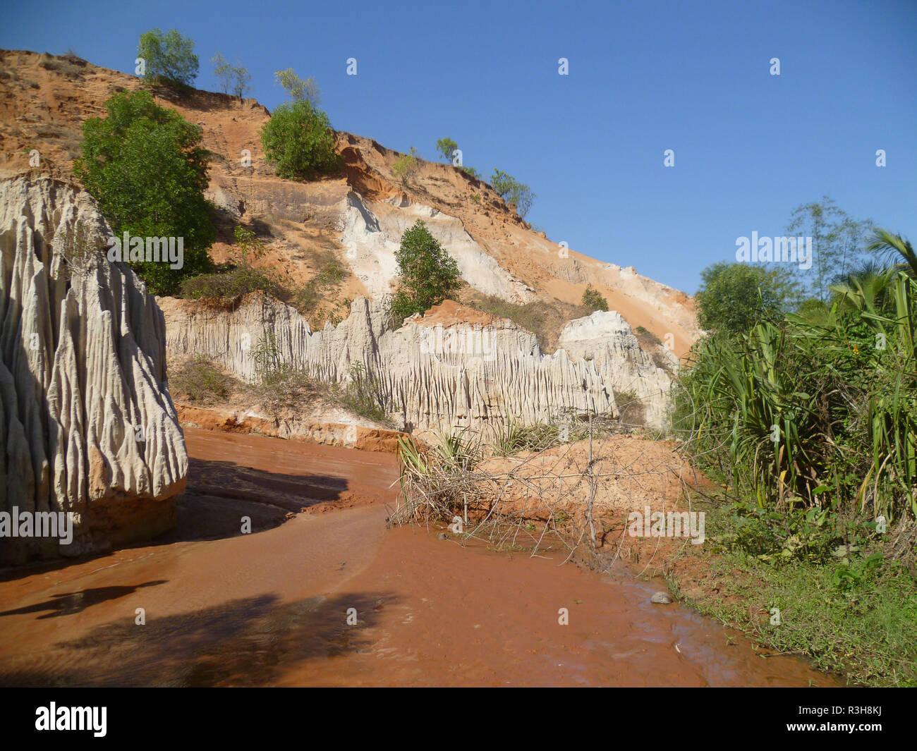 phan thiet - vietnam / red sand dunes - Stock Image