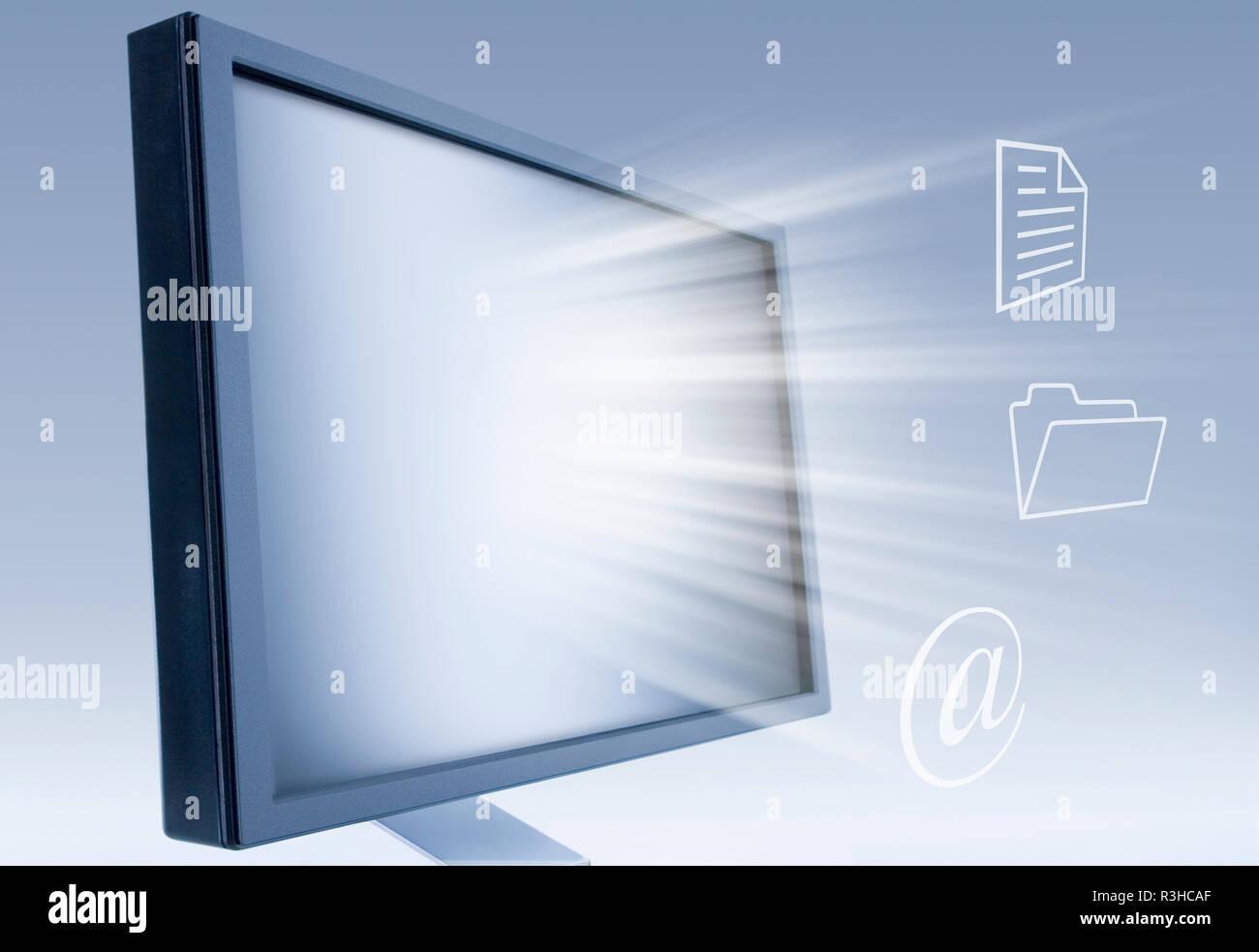 computer workstation - Stock Image