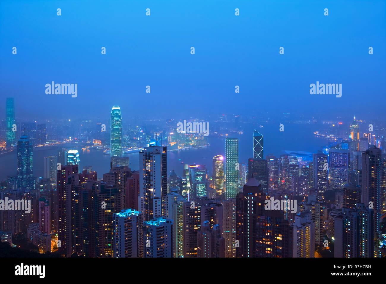skyline hongkong Stock Photo