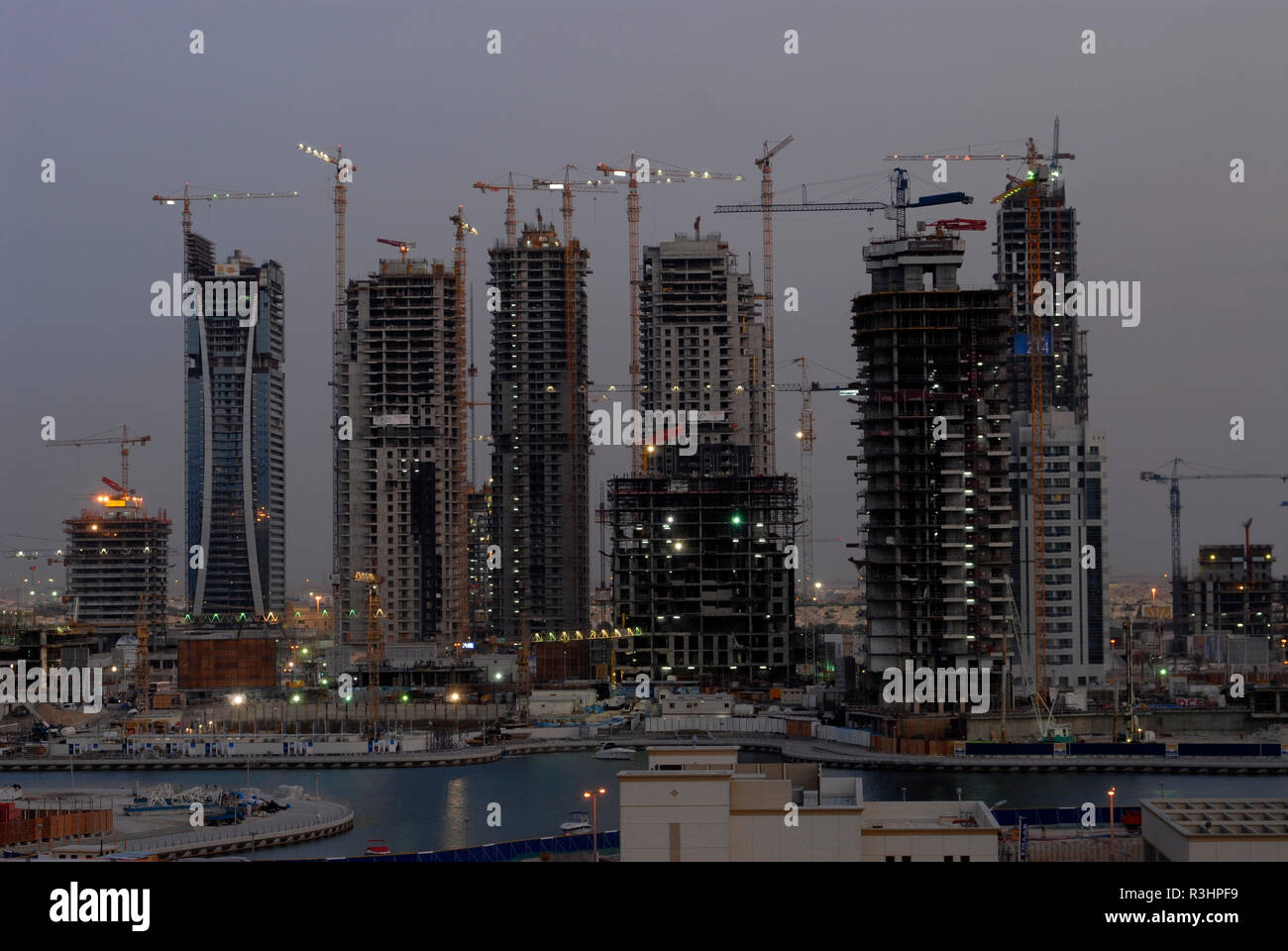 dubai construction site - Stock Image