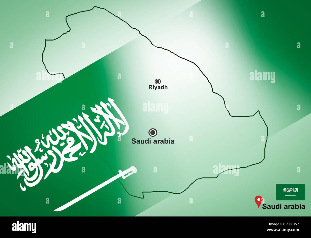 Saudi arabia map and Riyadh with location map pin and Saudi ...