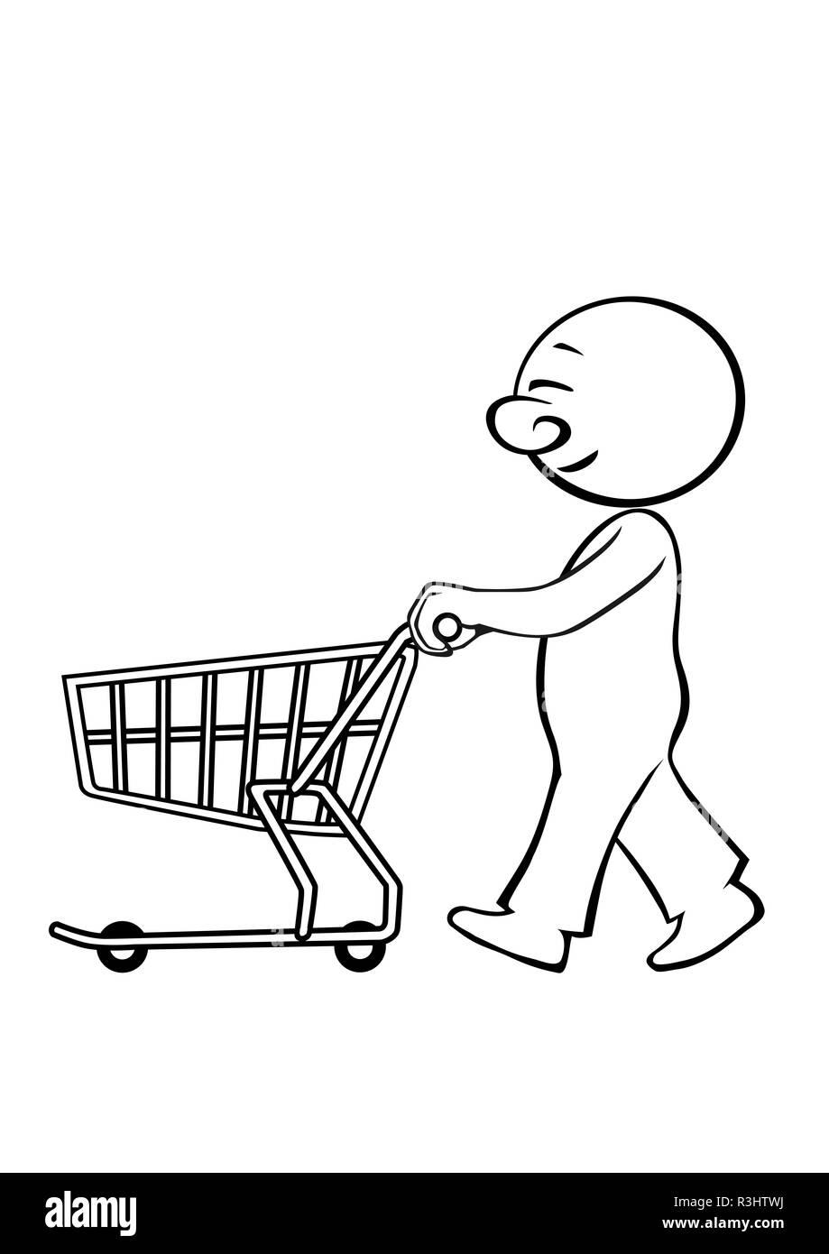 heribert11 shopping - Stock Image