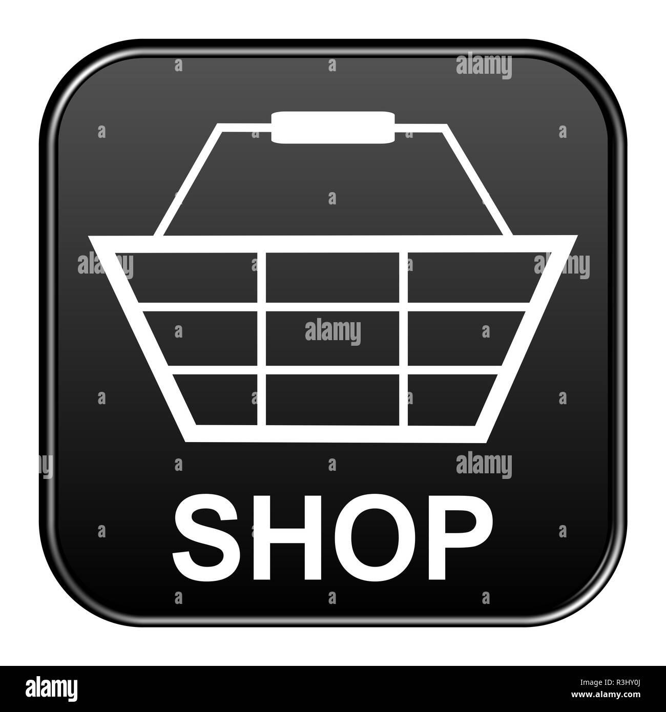 black button: store Stock Photo