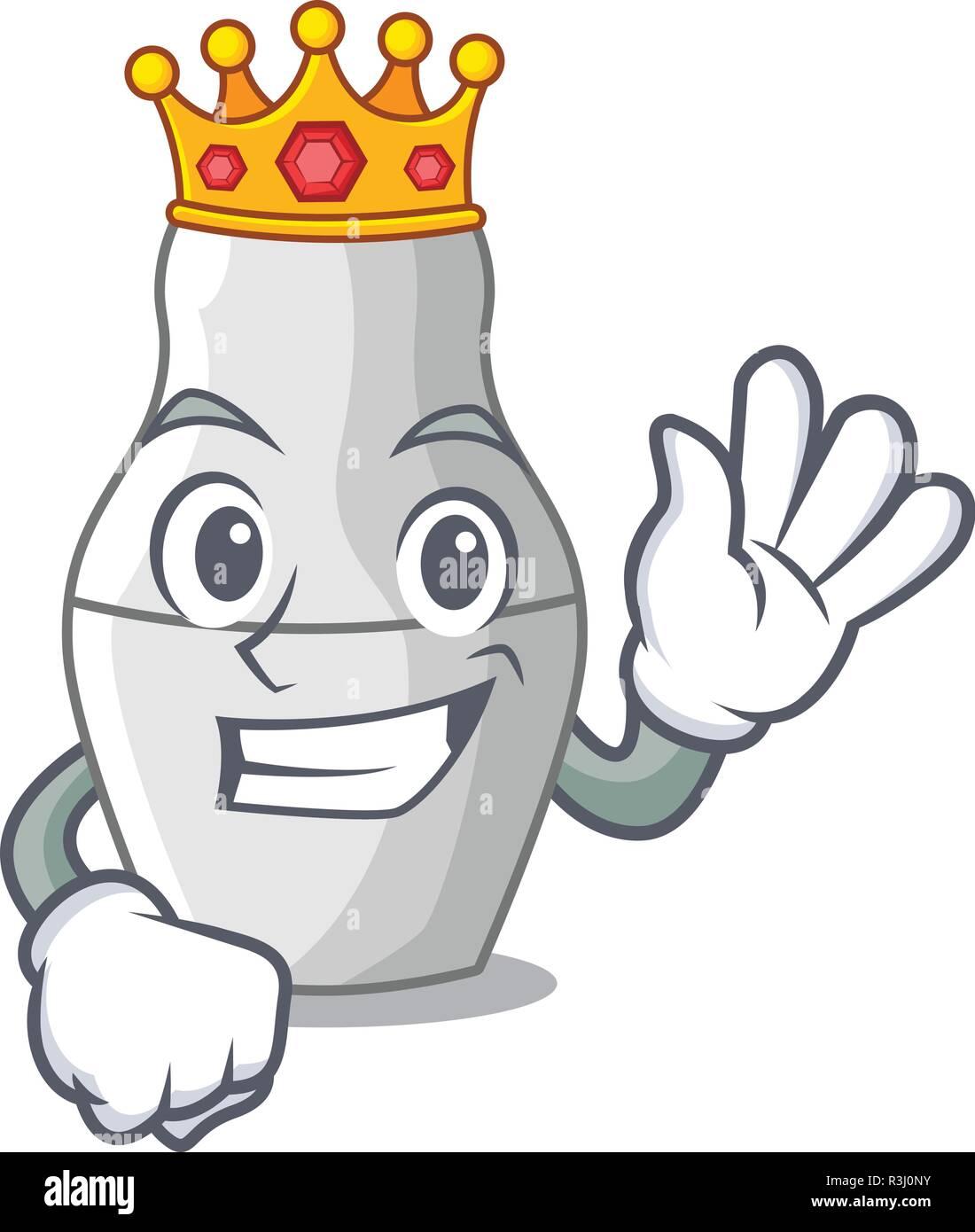 King nesting doll russian matryoshka on mascot - Stock Image