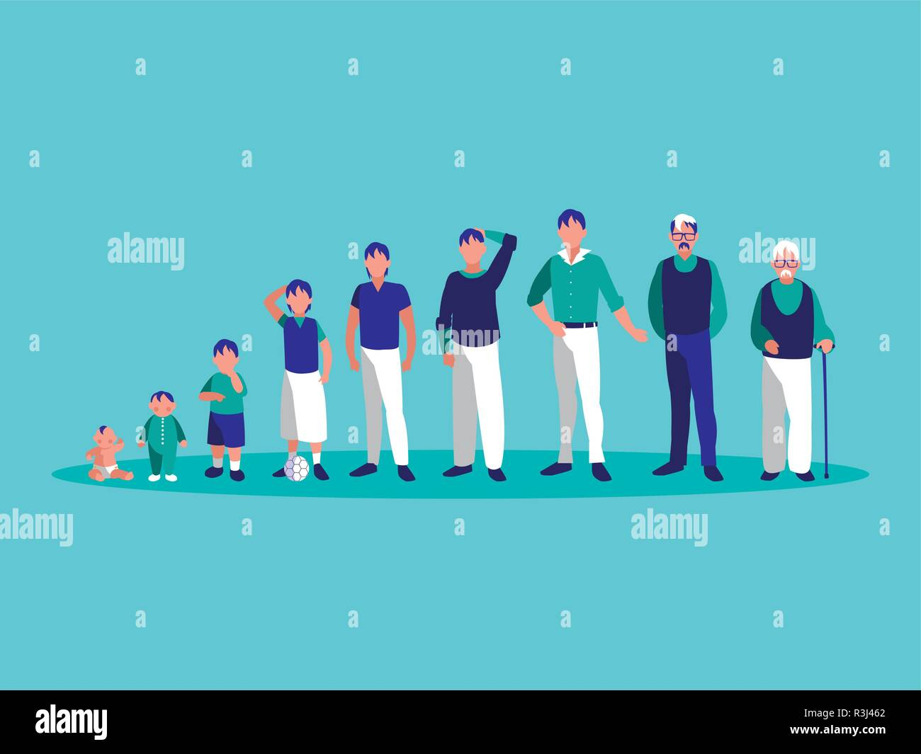 group of family members avatar character vector illustration design - Stock Vector