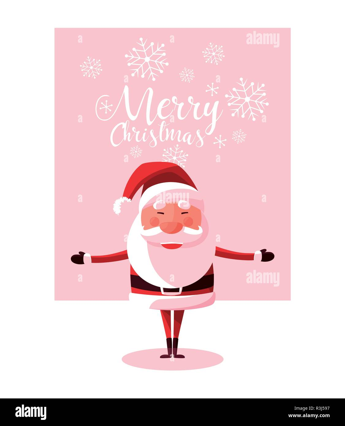 3e58d9b7e3b46 santa claus christmas character vector illustration design Stock ...