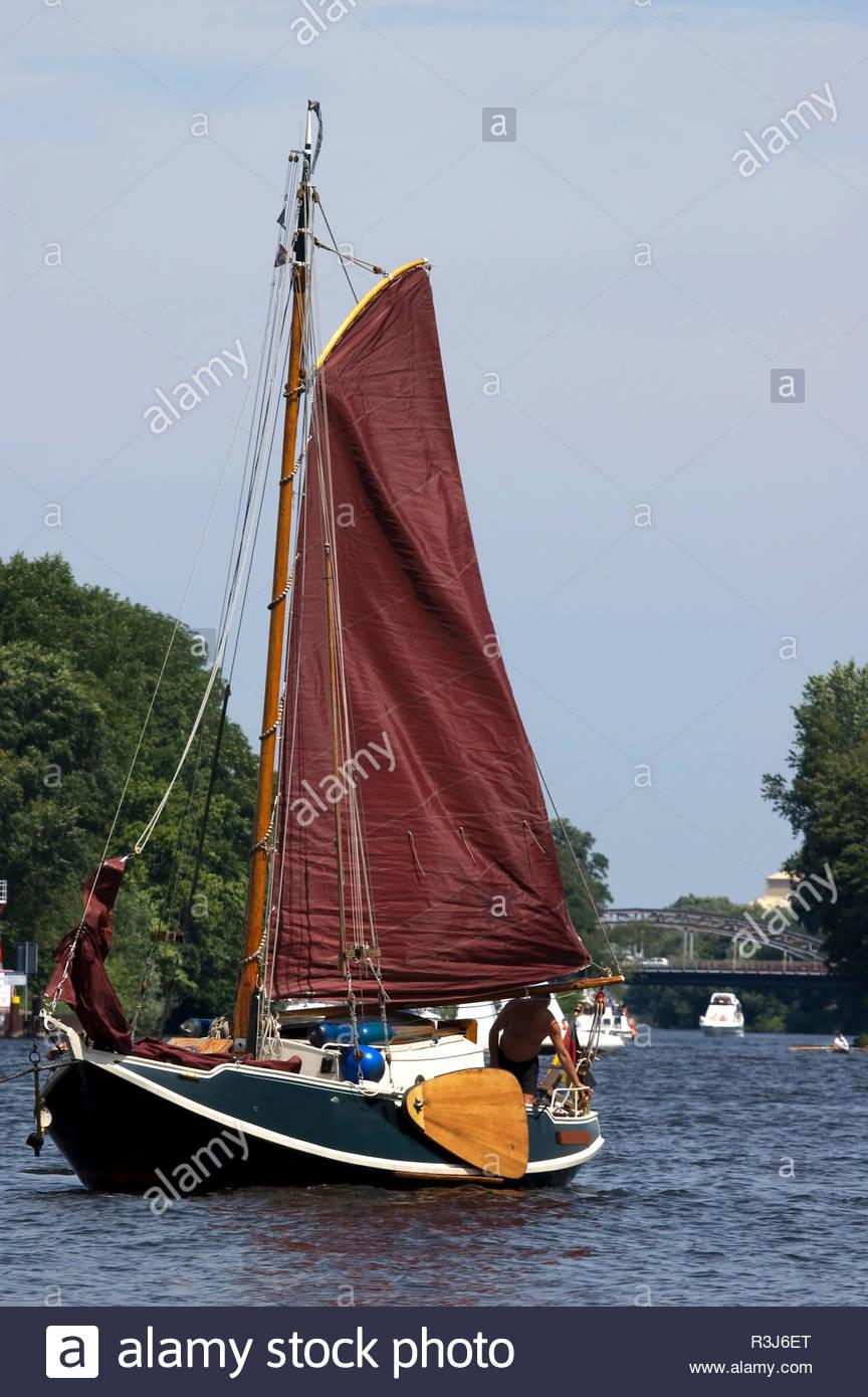 Boot auf der Havel - Stock Image