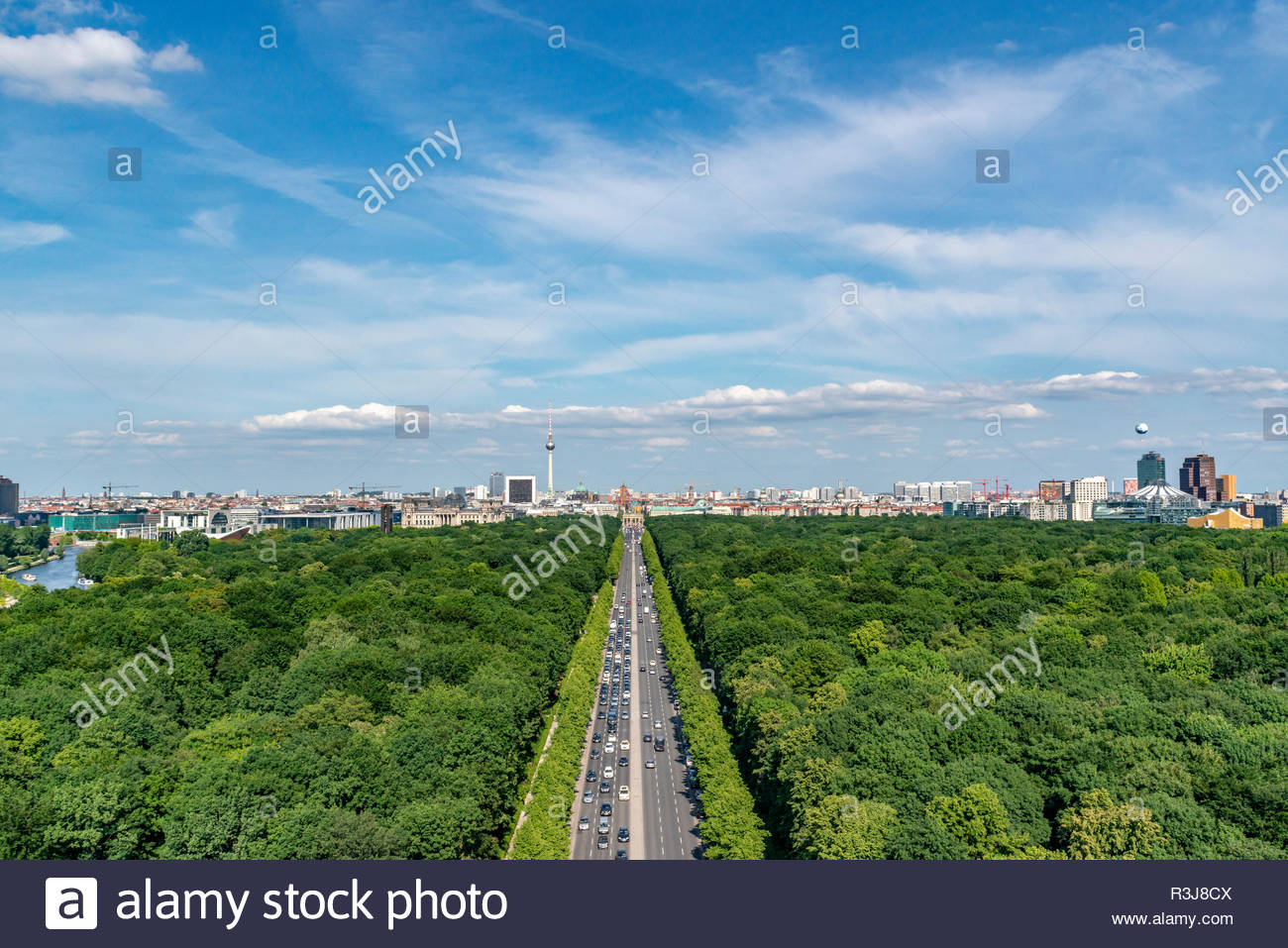 Berlin Mitte Luftbildaufnahme - Stock Image