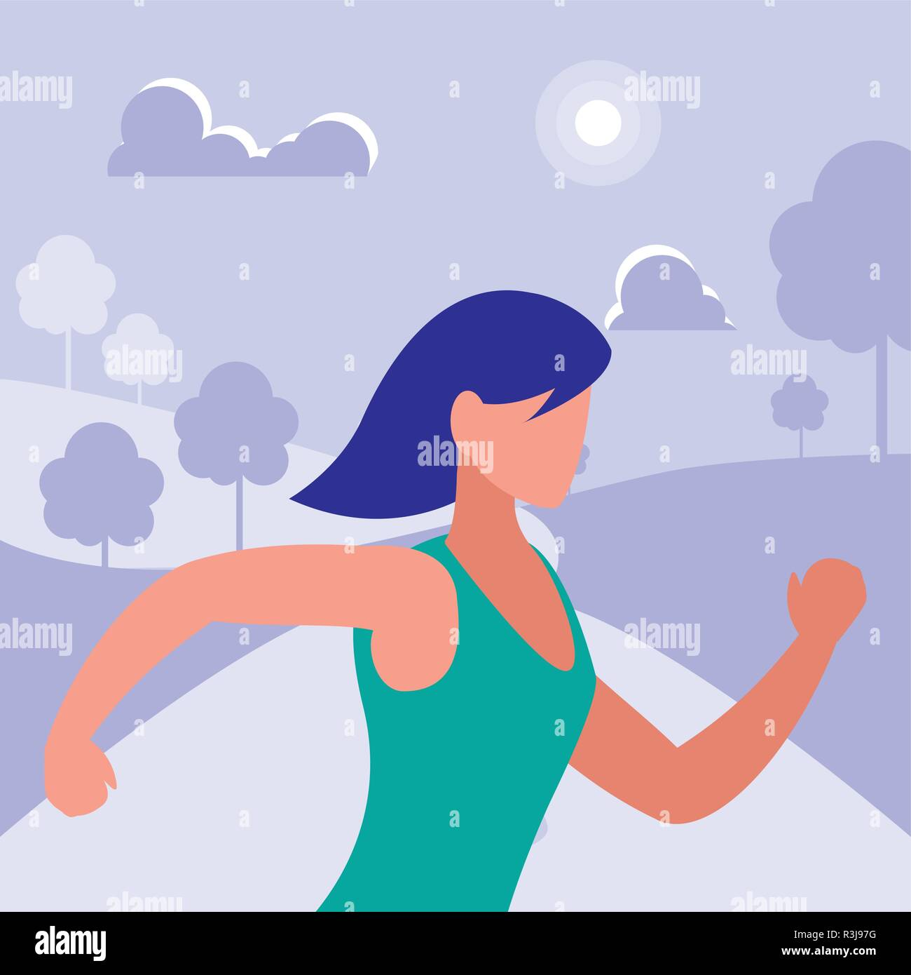 f6573f22a3211 Girl running with sportswear, Gym sport bodybuilding healthy and lifestyle  theme Colorful design Vector illustration
