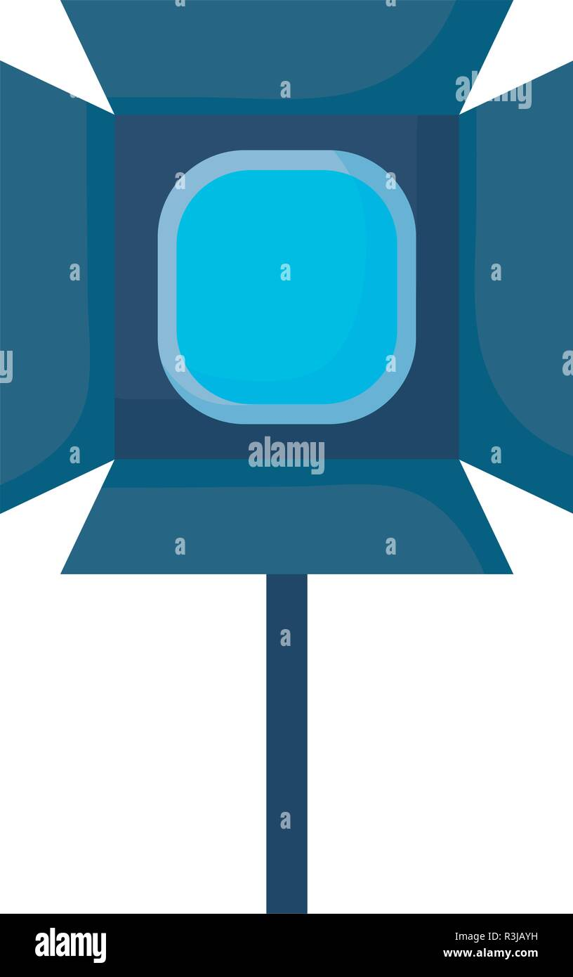 studio lamp icon over white background, vector illustration - Stock Vector